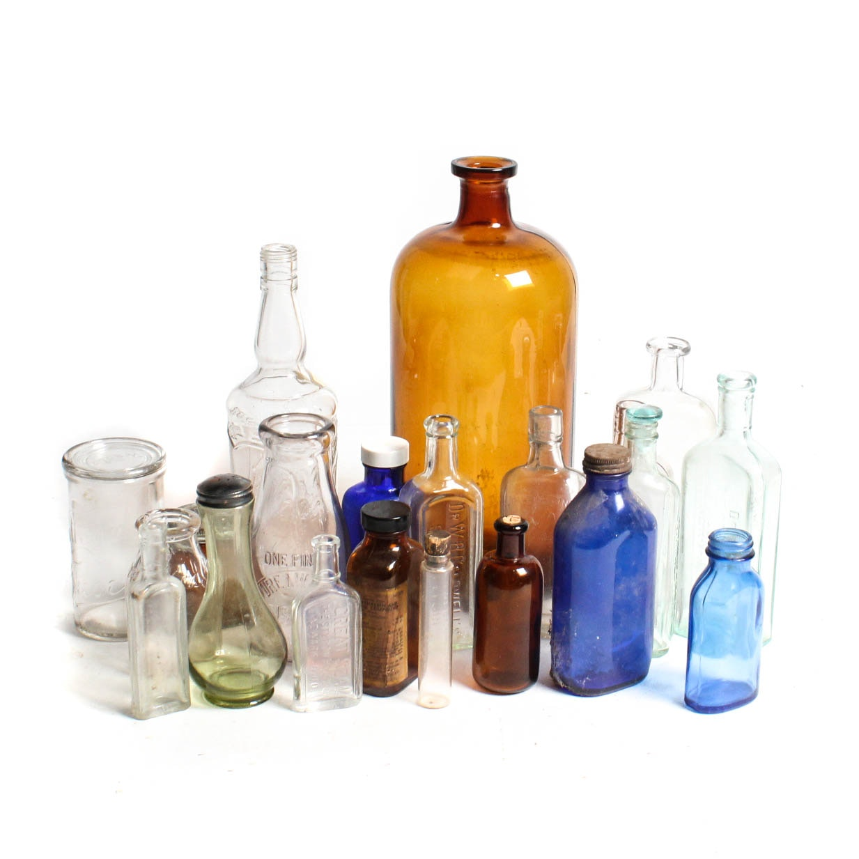 Large Group of Vintage Bottles