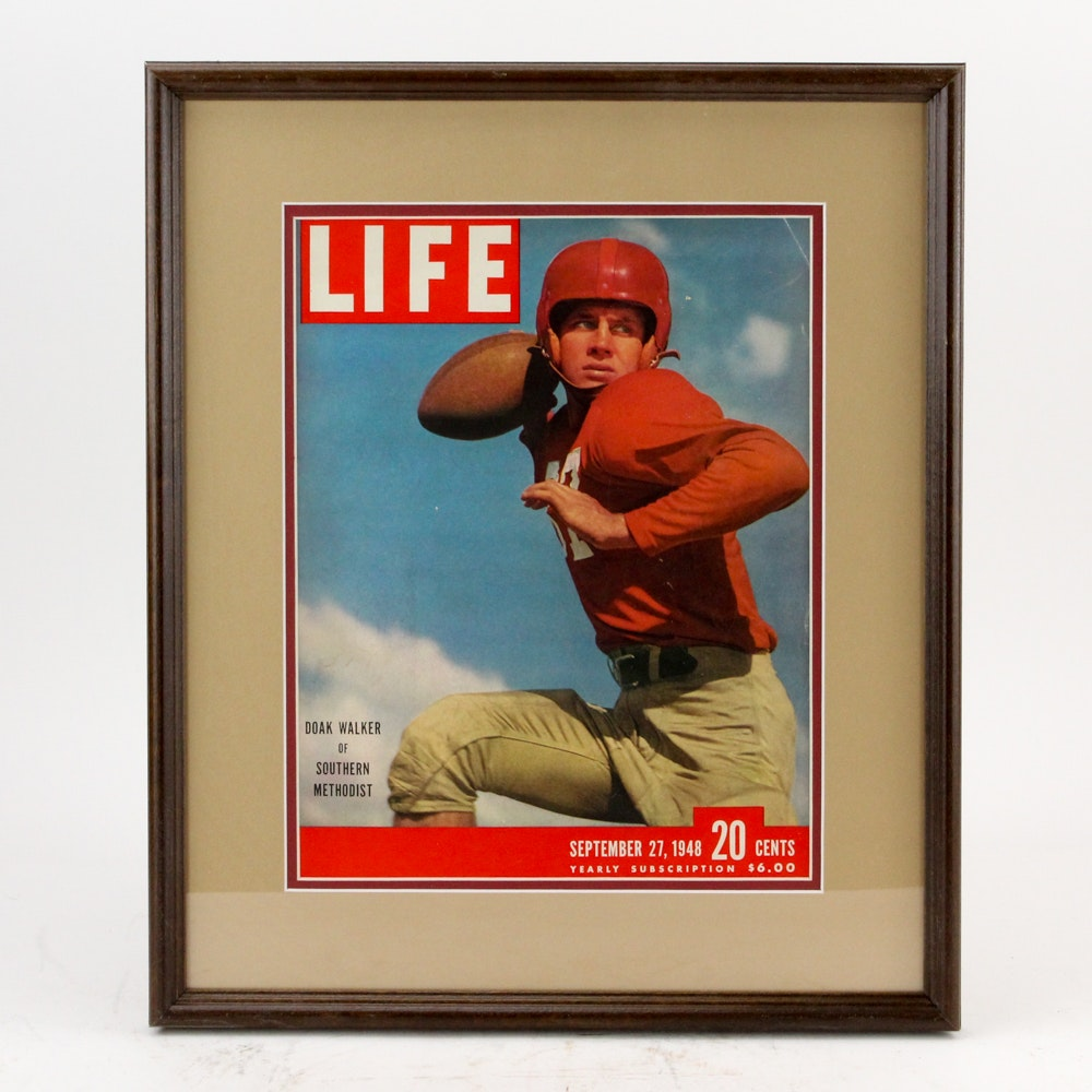 "1948 ""Life"" Magazine Cover Featuring Heisman Trophy Winner Doak Walker"