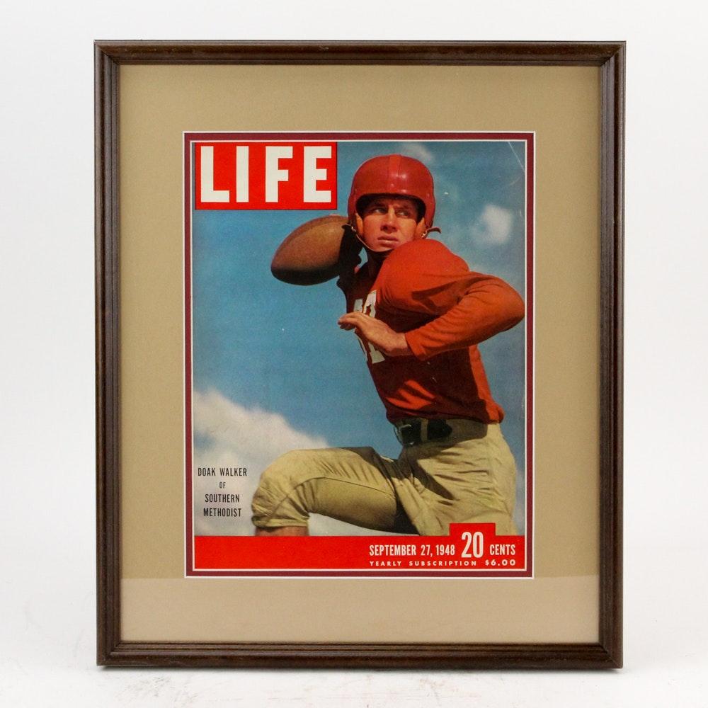 "1948 ""Life"" Magazine Cover Featuring Heisman Trophy Winner Doak Walker"