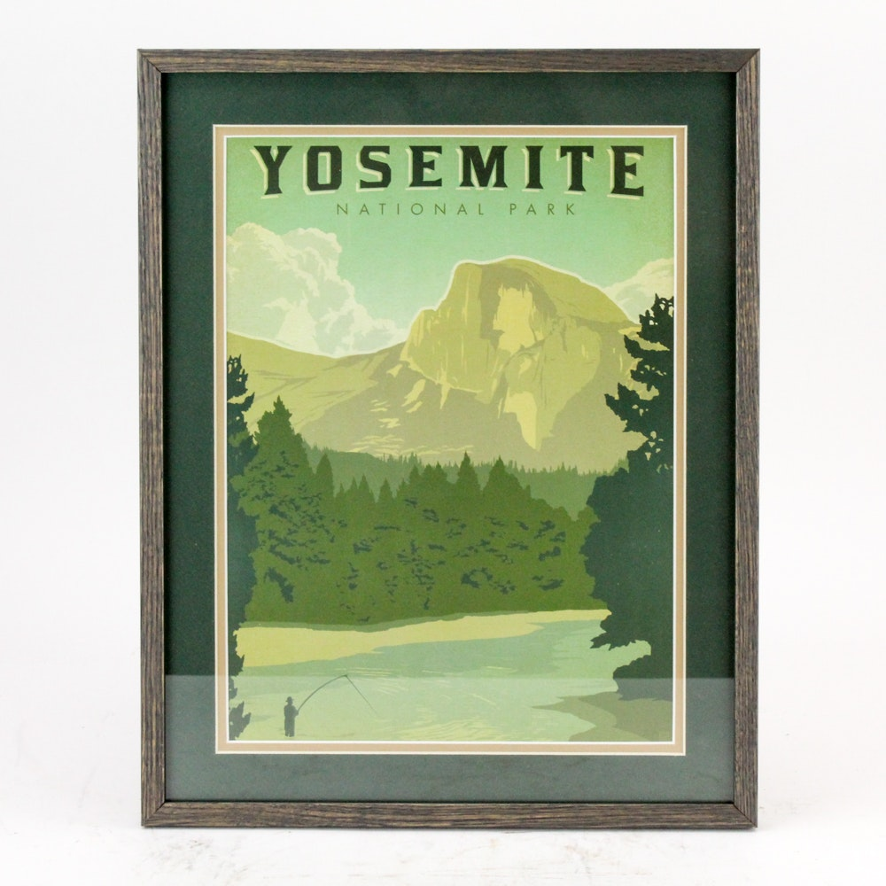 "Anderson Design Group ""Yosemite National Park"" Travel Poster"