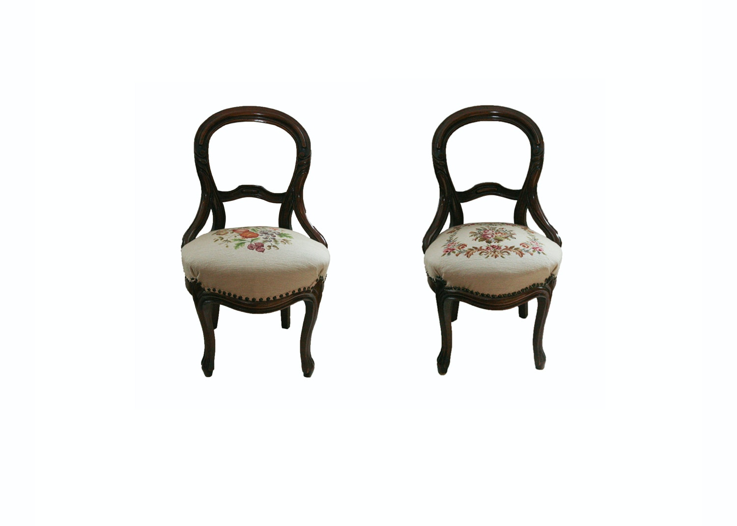Vintage Victorian Renaissance Revival Style Side Chairs