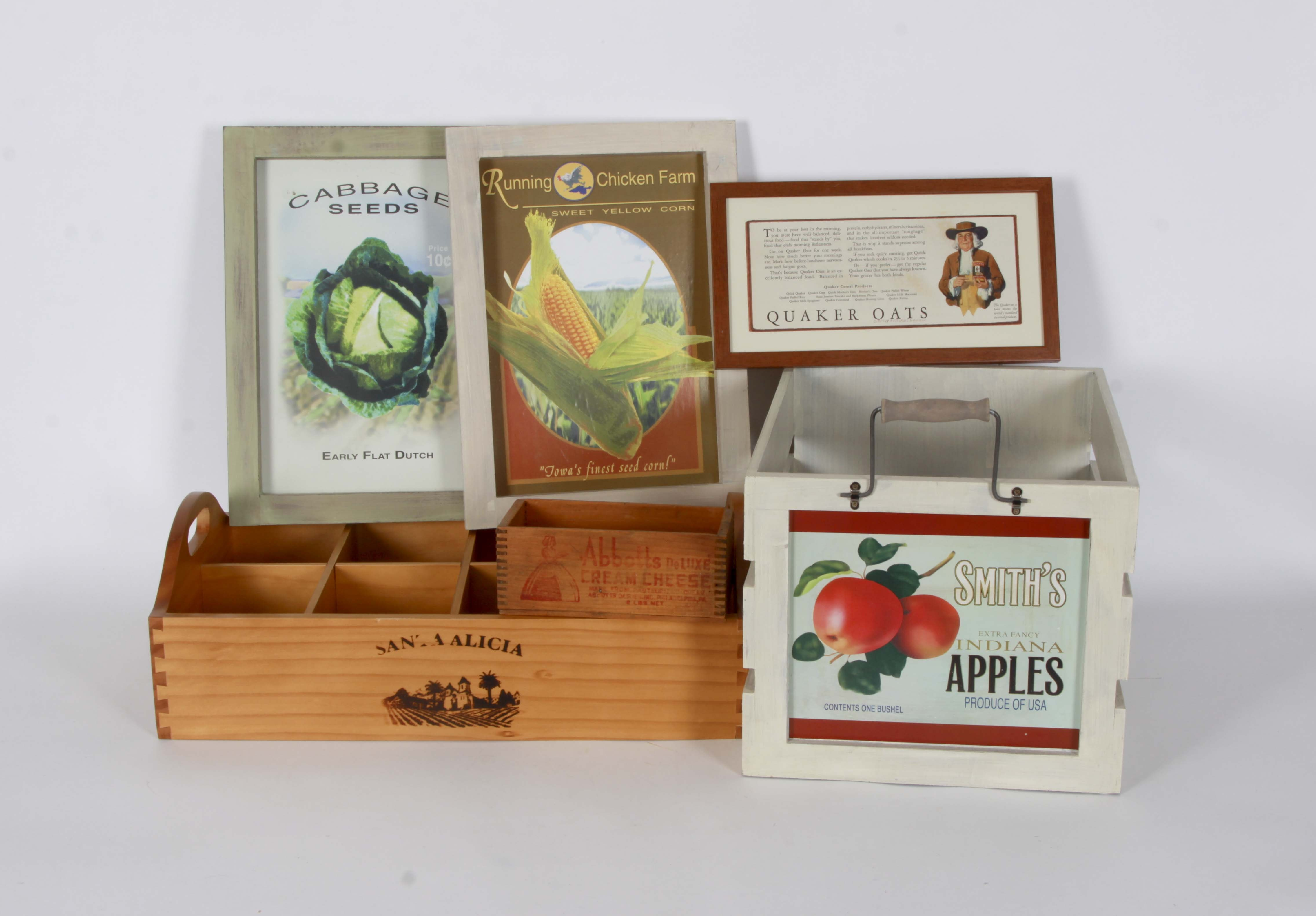 Advertising Crates and Wall Decor