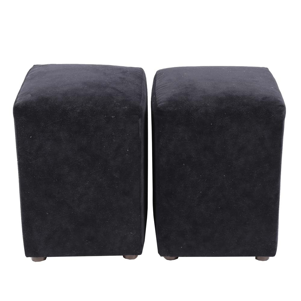 Pair of Upholstered Stools by Carter