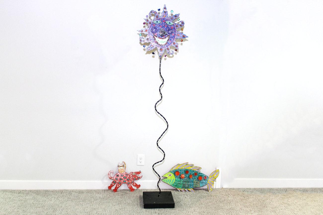 Mixed Media Folk Art Sculpture