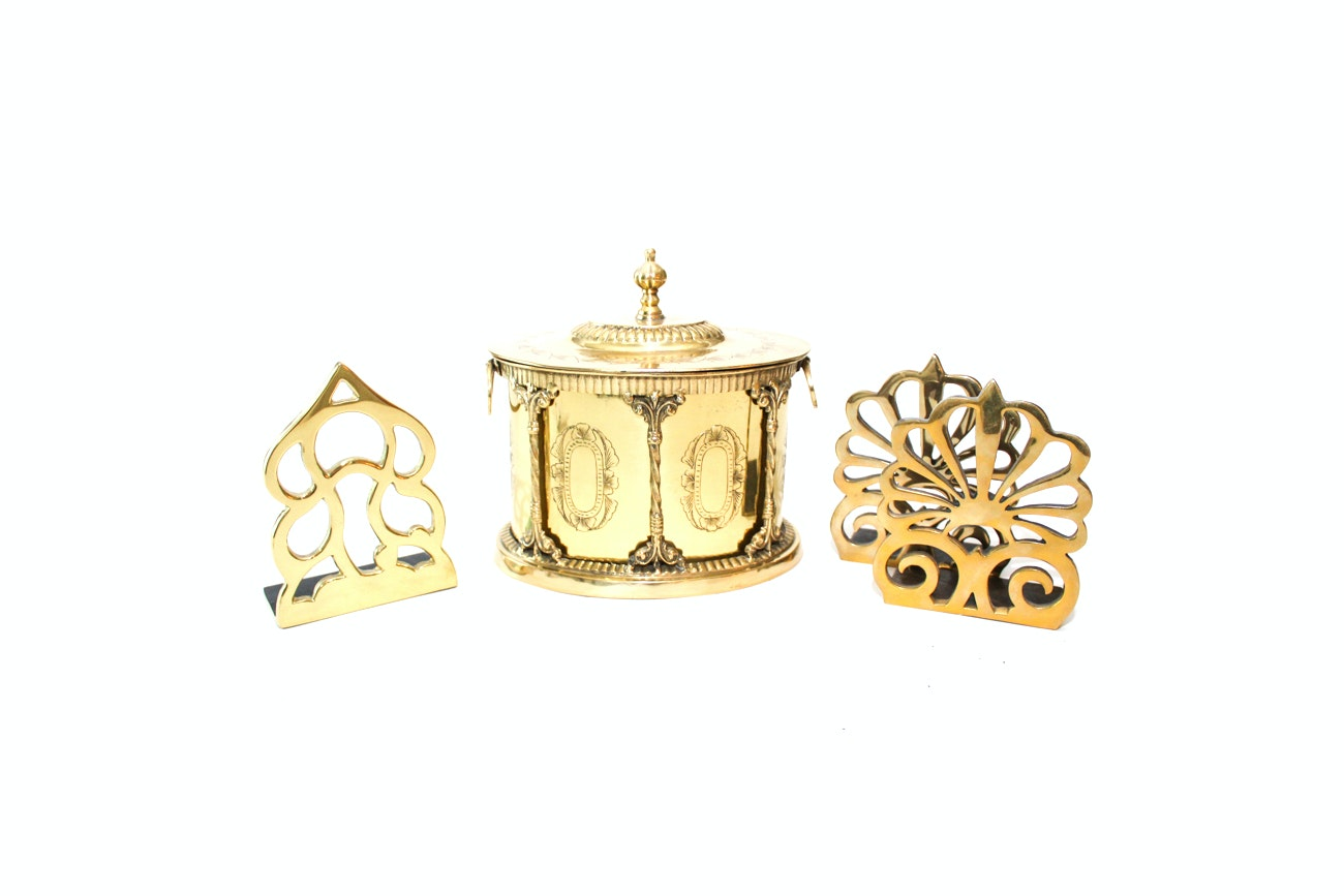 Decorative Brass Accessories Featuring Hampton and Monticello