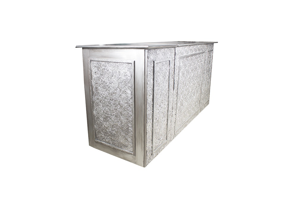 Motorized Television Lift by Auton in Silver Tone Cabinet