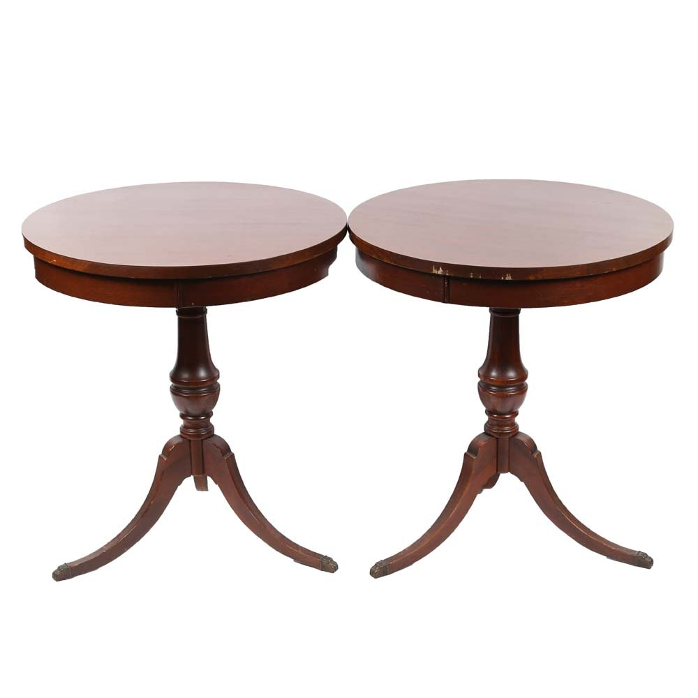 Vintage Duncan Phyfe Style Side Tables by Mersman