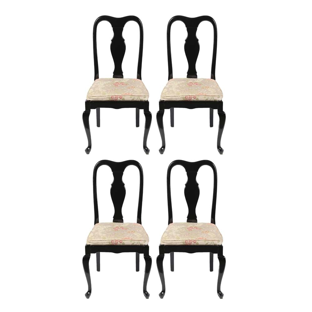 Queen Anne Style Lacquered Dining Chairs