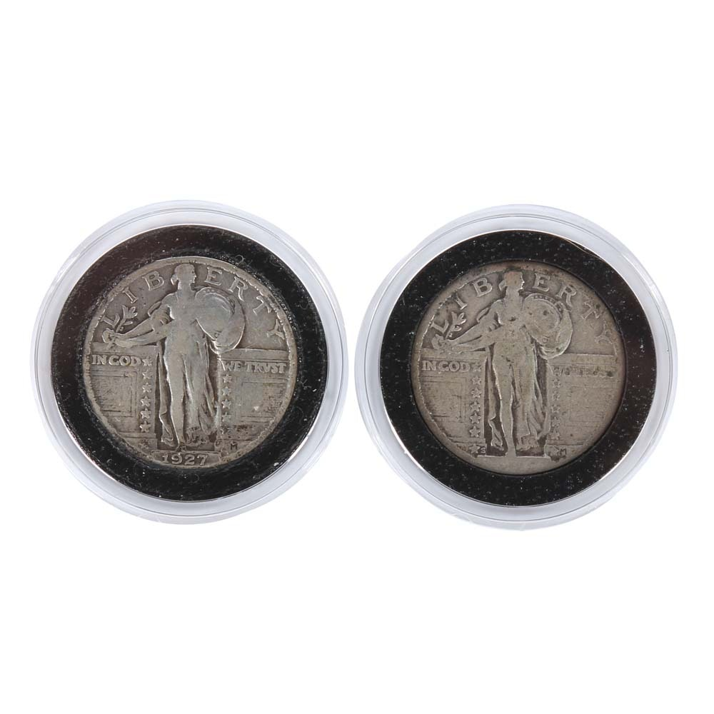 Standing Liberty Silver Quarters Including 1927