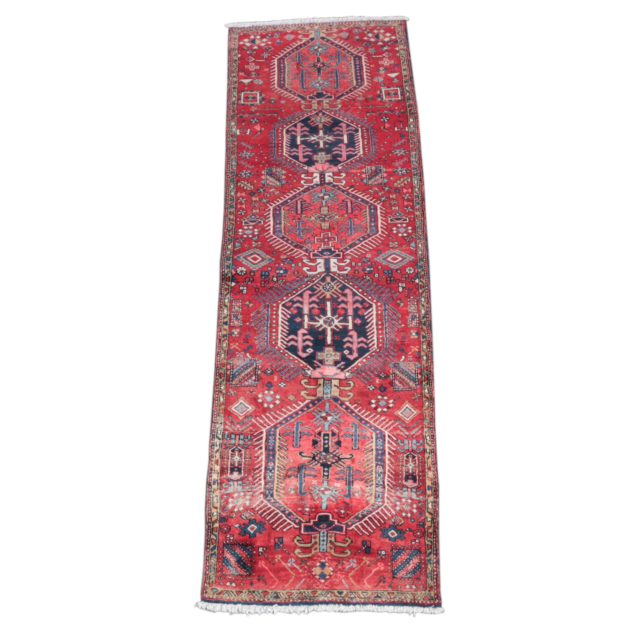 Hand-Knotted North West Persian Wool Carpet Runner
