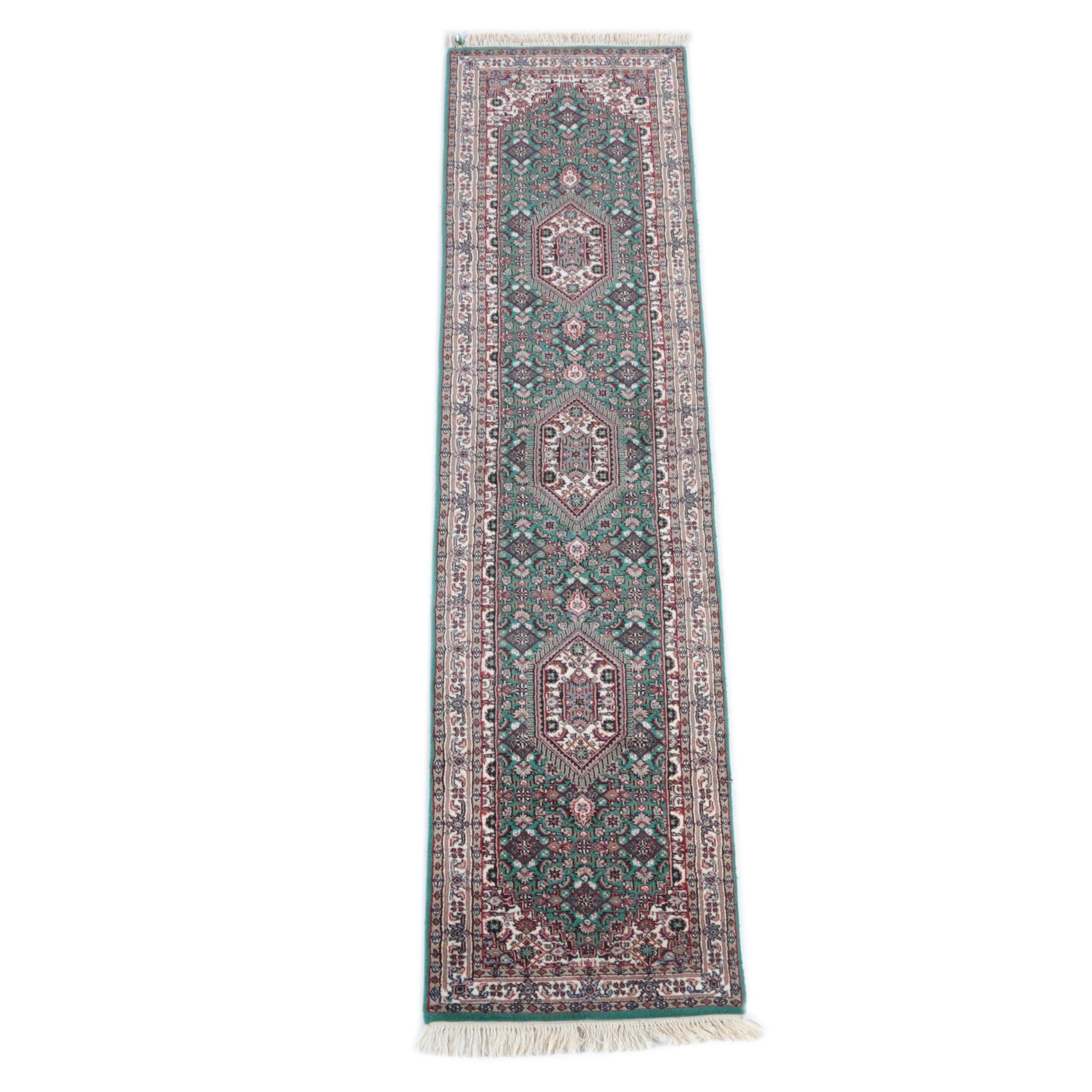 Hand-Knotted Indo-Bijar Carpet Runner