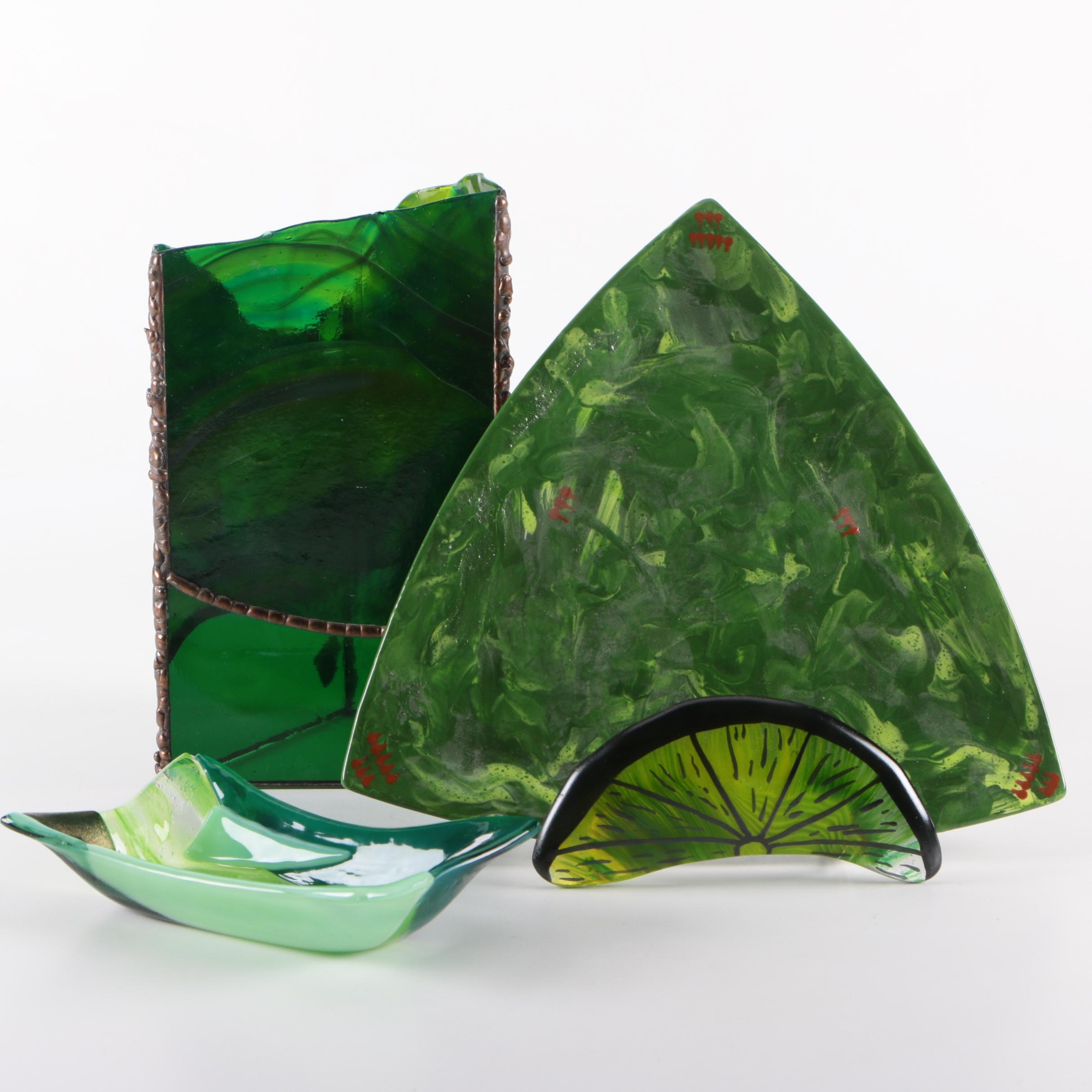Fused Art Glass and Ceramic Decorative Objects
