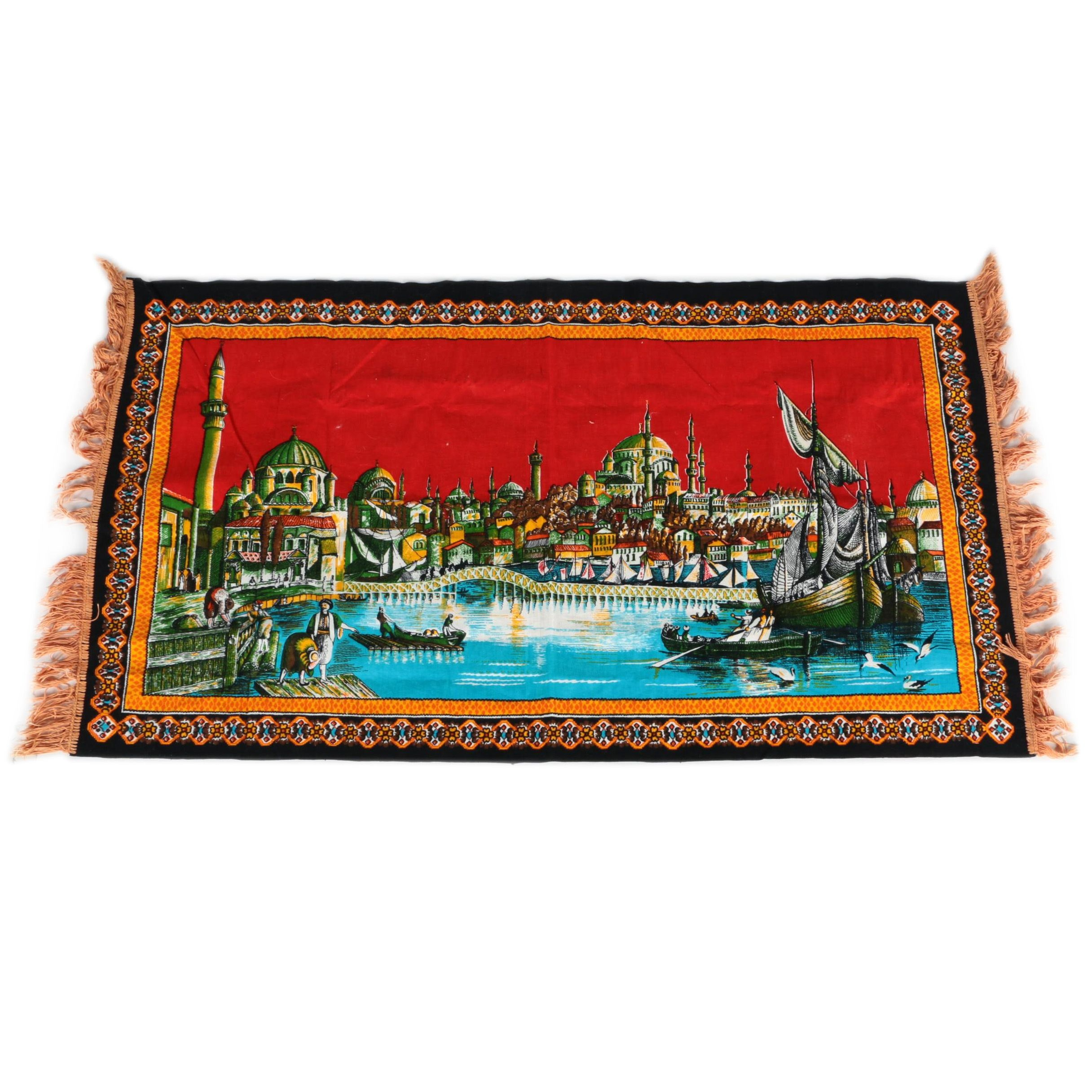 Printed Fabric Landscape Tapestry