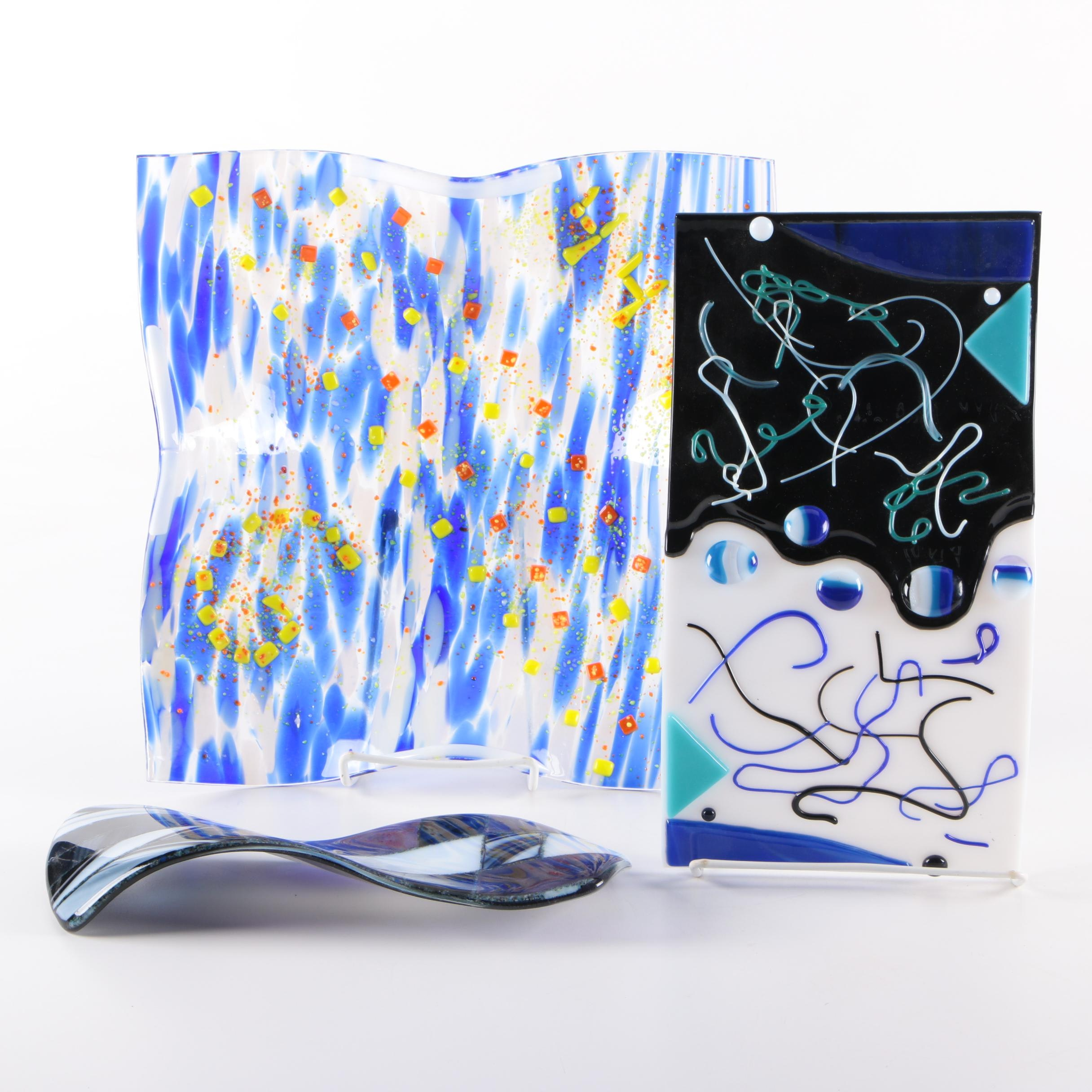 Free Form Art Glass Grouping