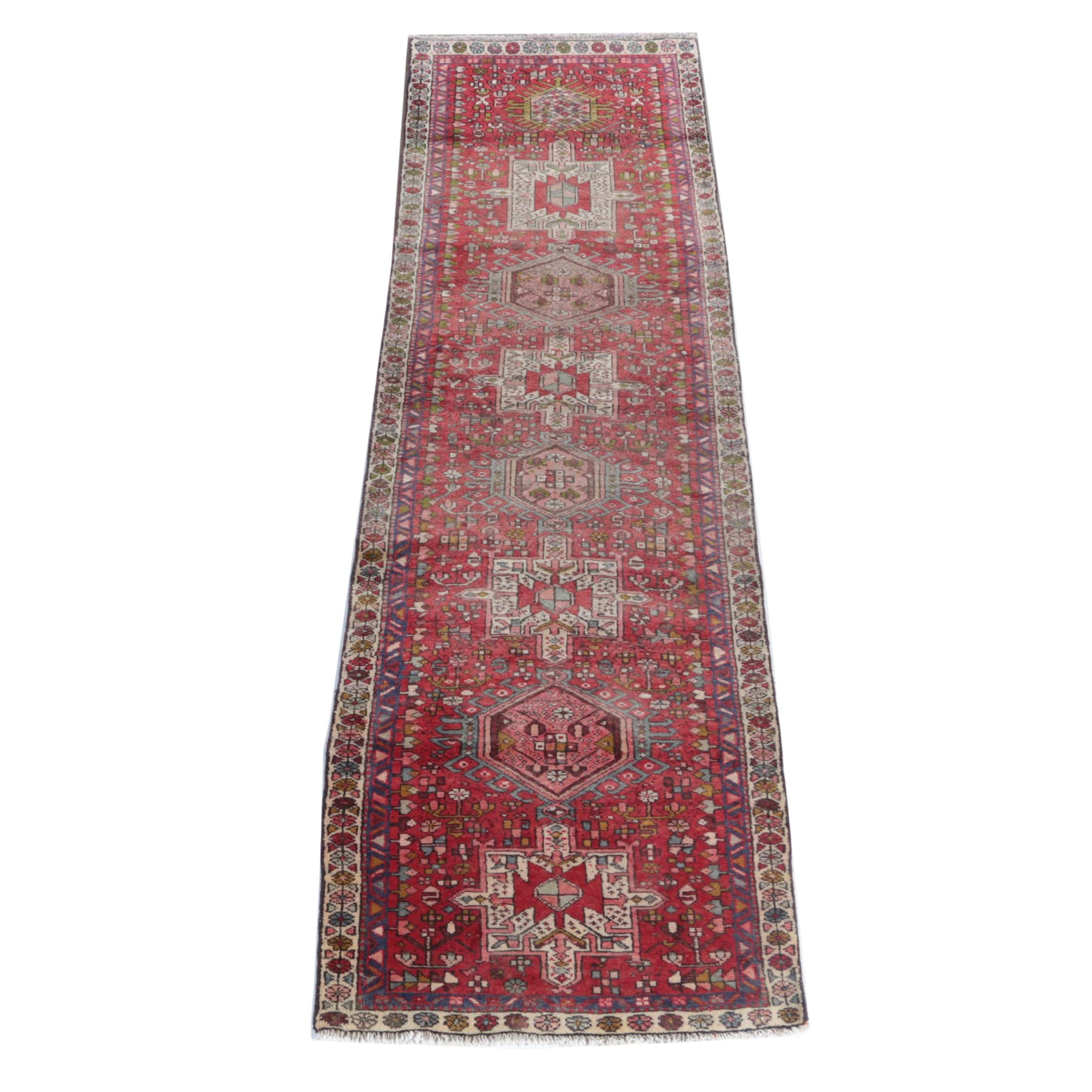 Hand-Knotted Persian Karaja Carpet Runner