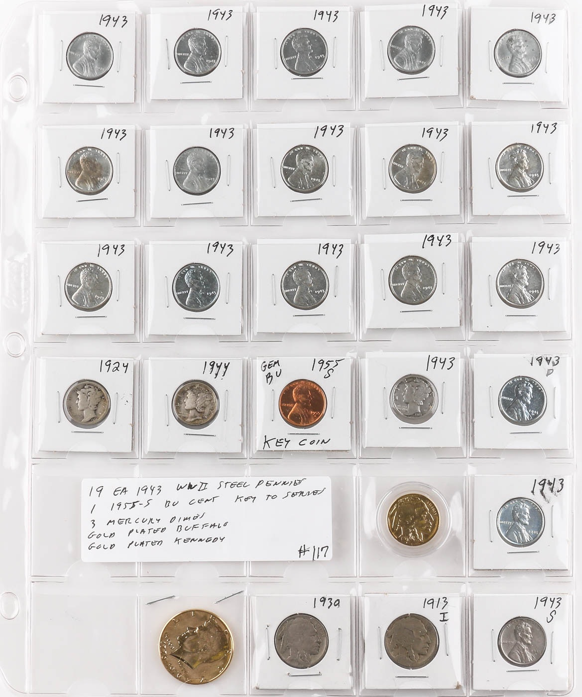 Group of 26 Various American Coins
