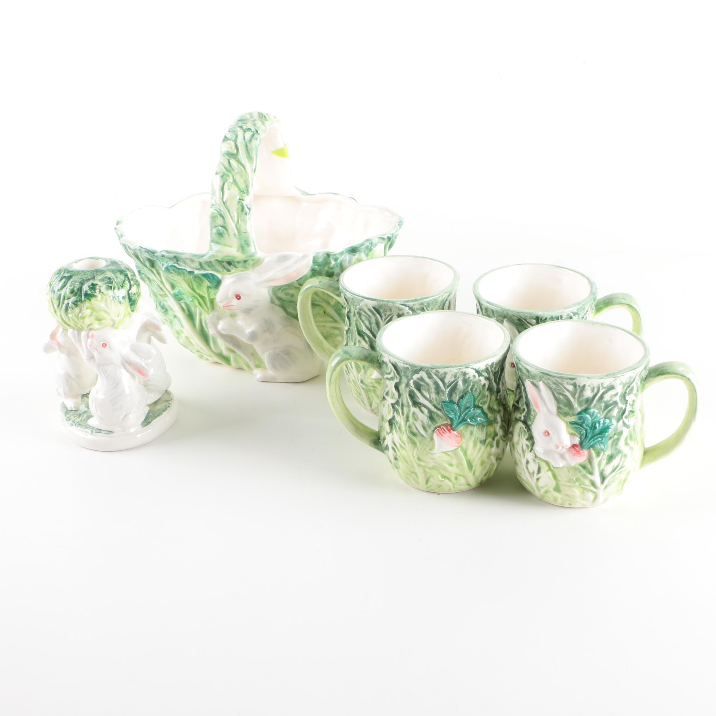 """Rabbit Patch"" Tableware by Shafford Ceramics"