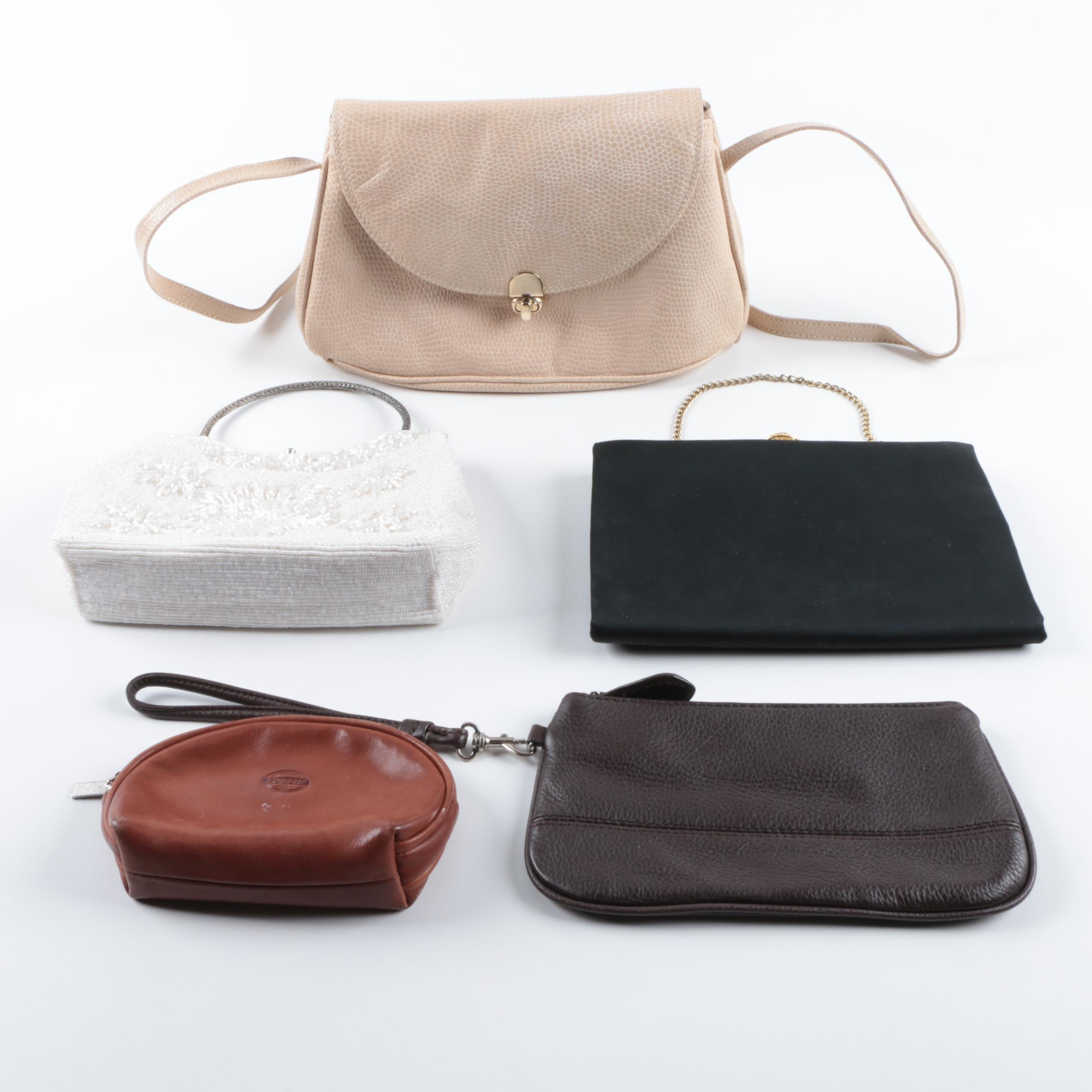 Leather and Evening Handbags Including Vintage Bonwit Teller
