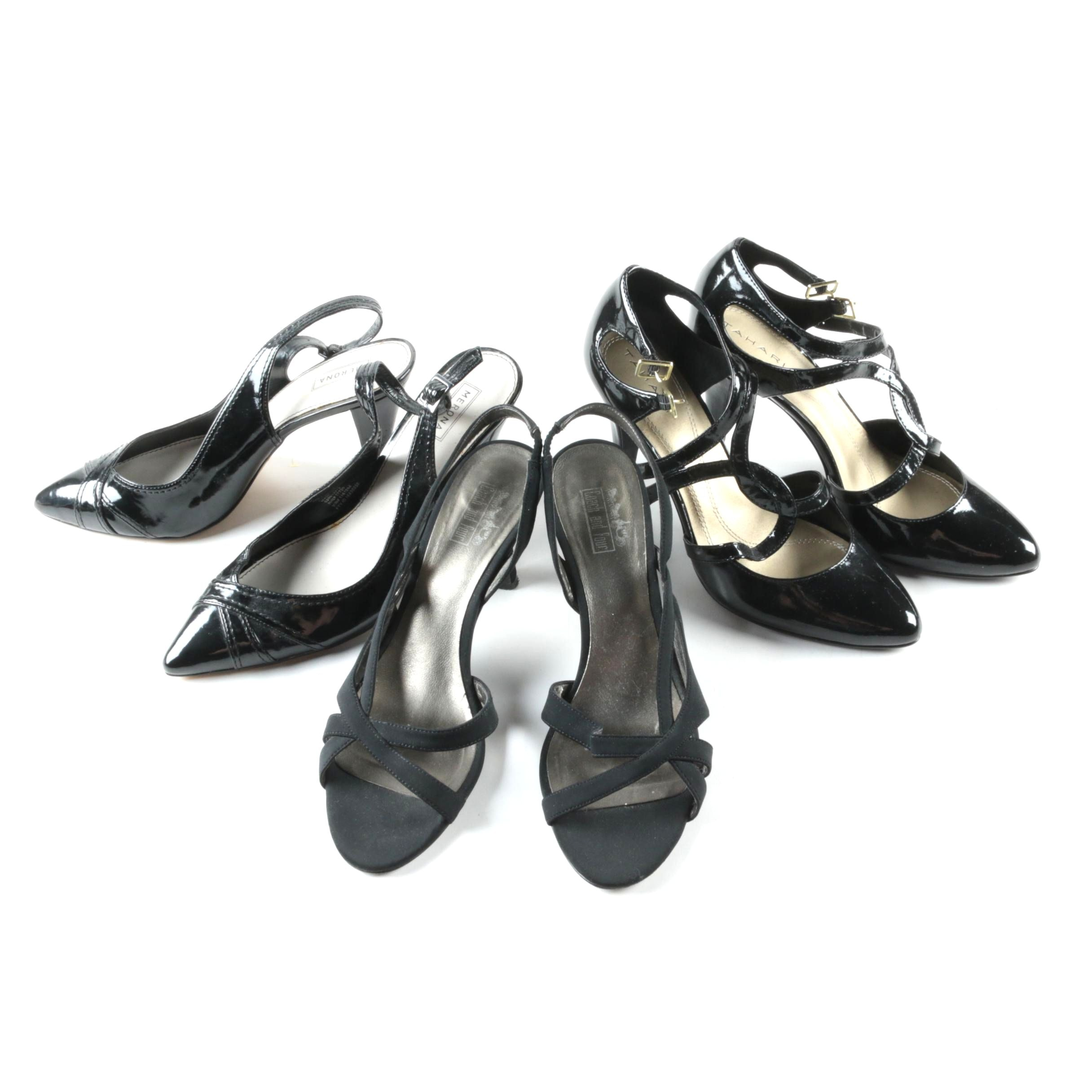 Women's Black High Heels Including Tahari