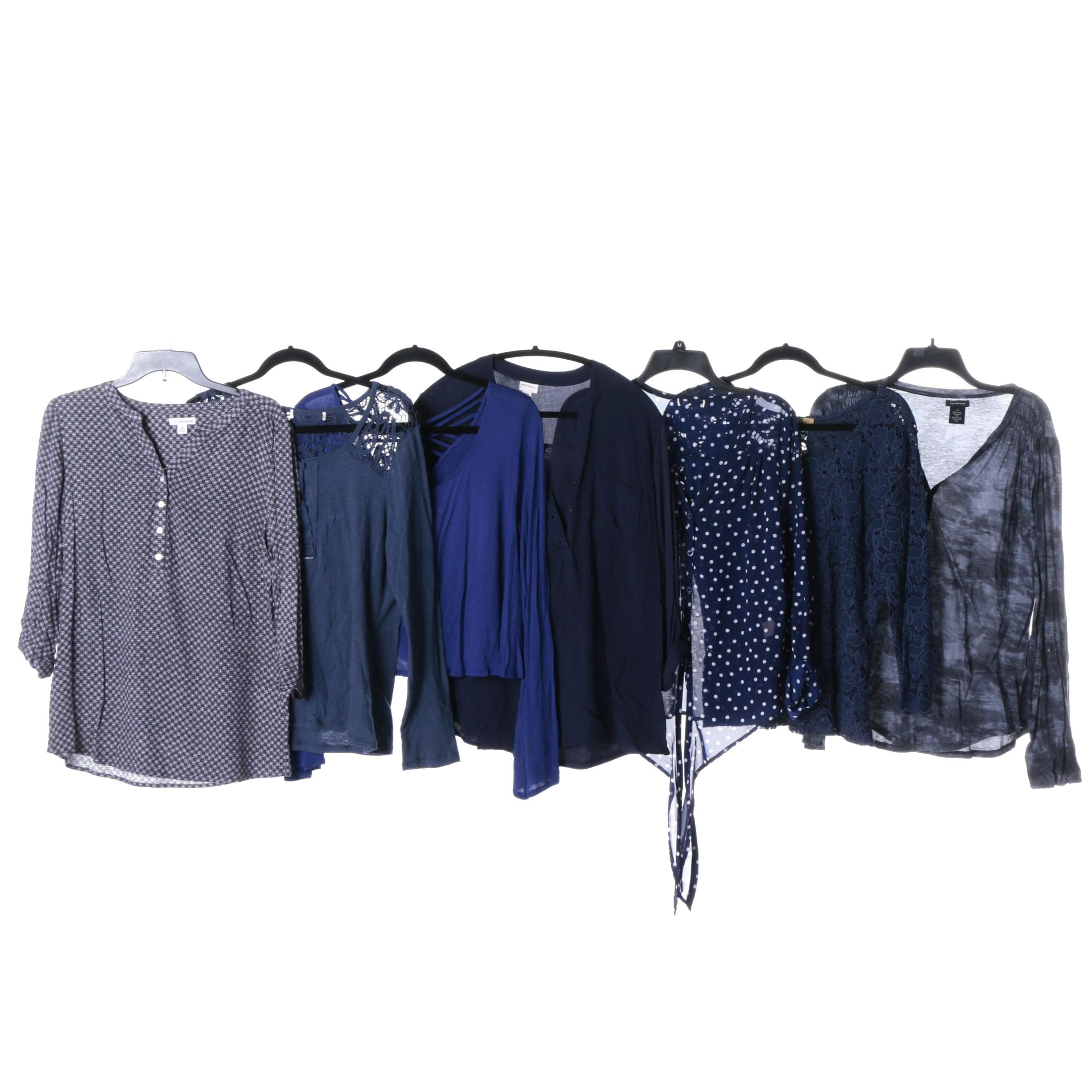 Women's Blue Tops Separates