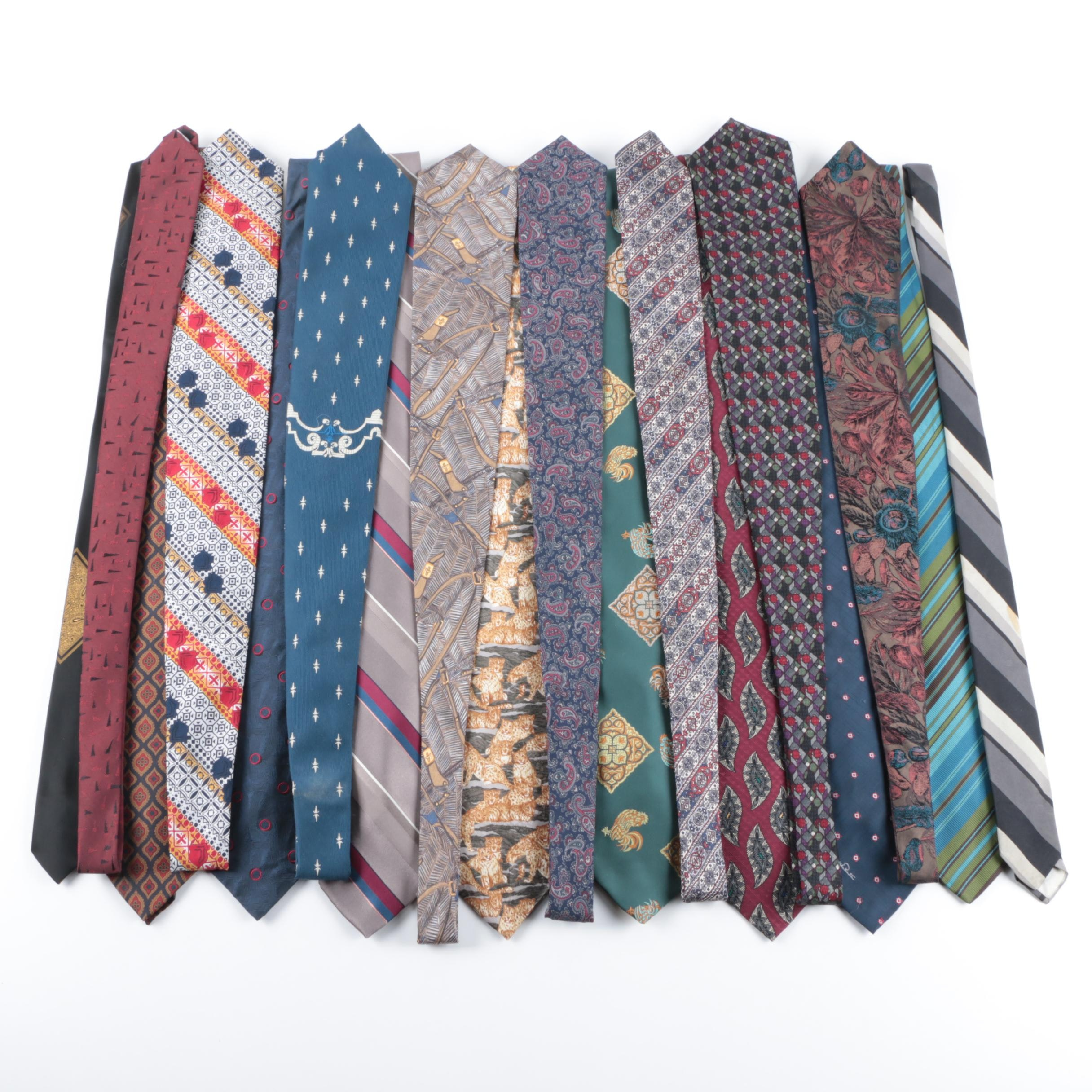 Men's Neckties Including Oscar de la Renta, Bill Blass and Wembley
