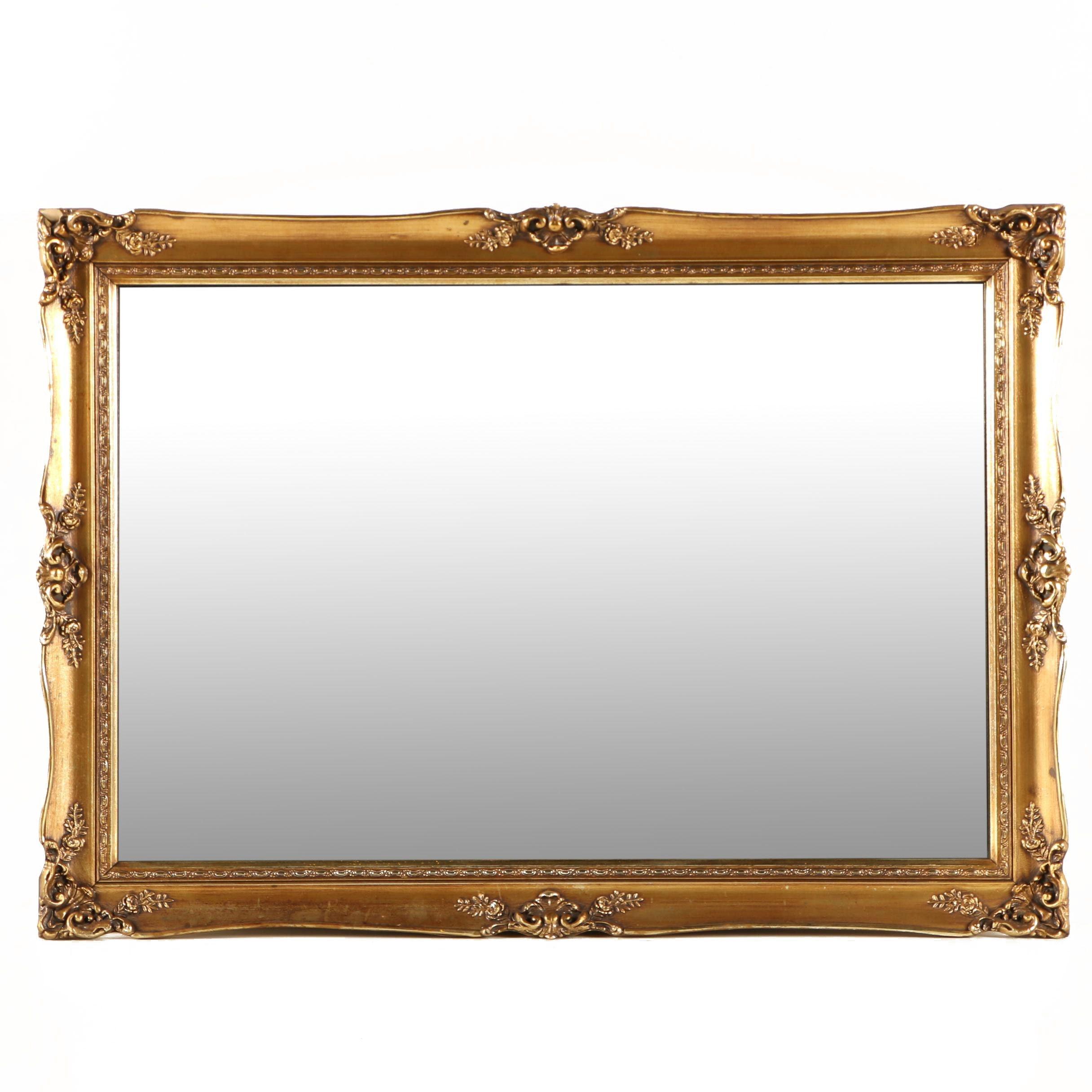 Wall Mirror with Edwardian Style Gilt Frame