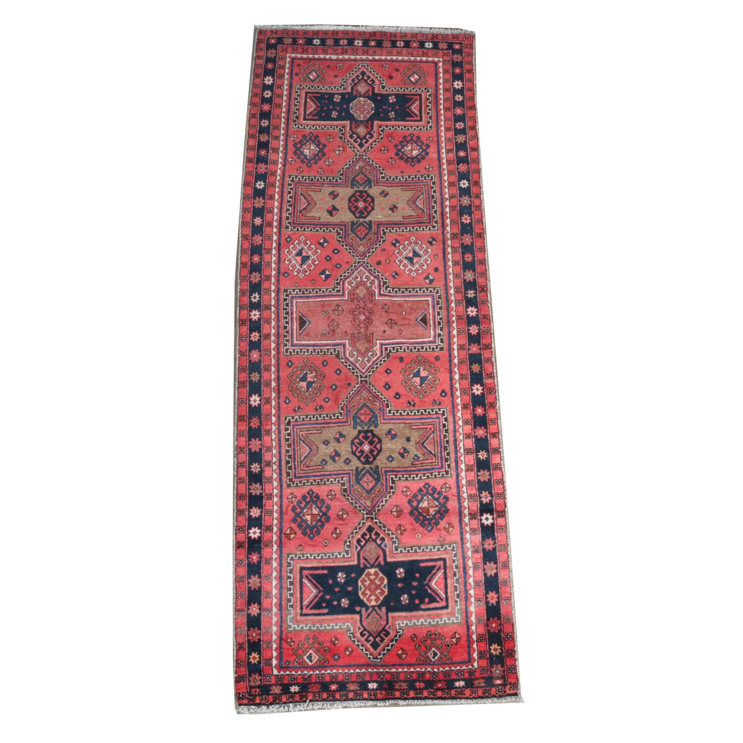 Hand-Knotted Kazak Carpet Runner