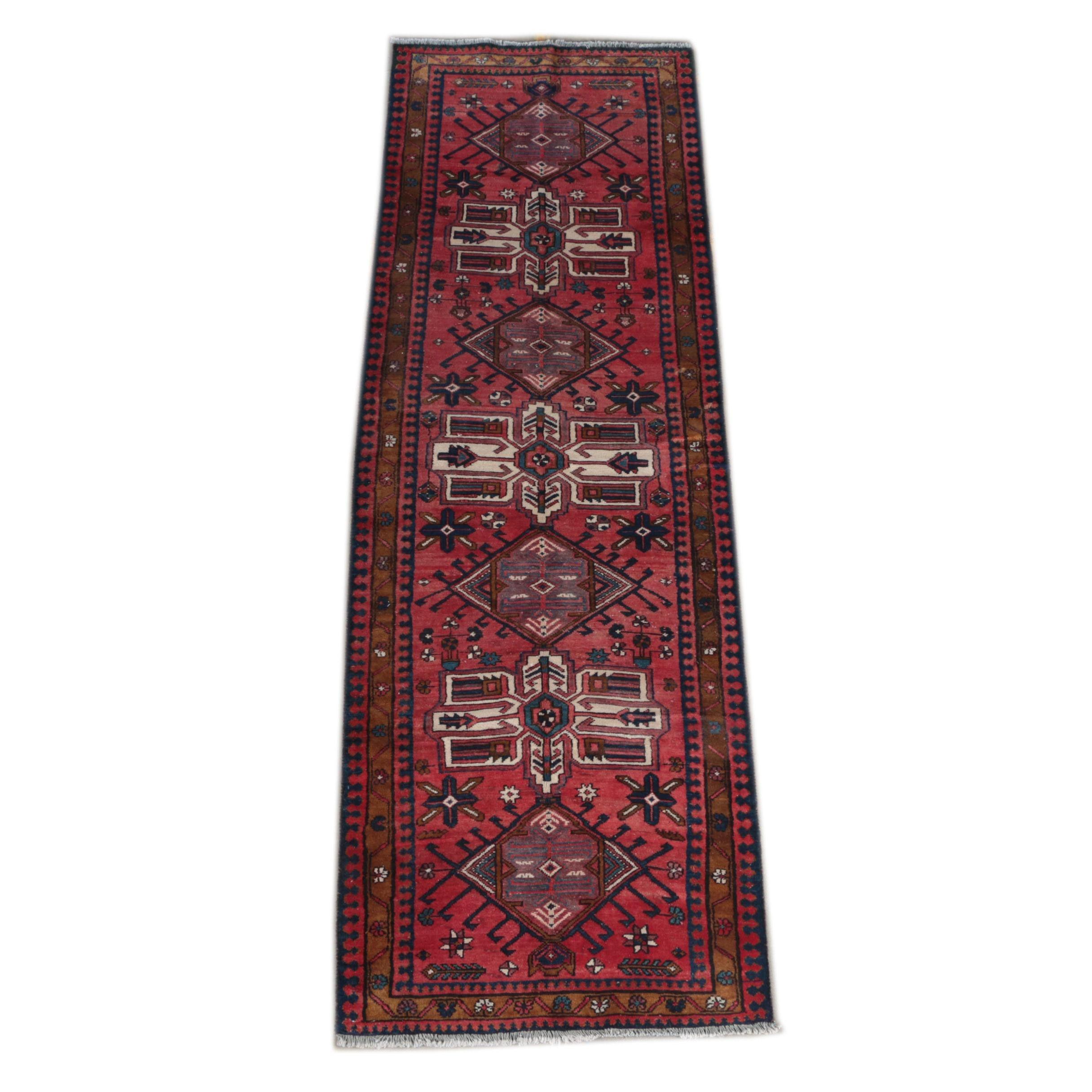 Hand-Knotted Caucasian Carpet Runner