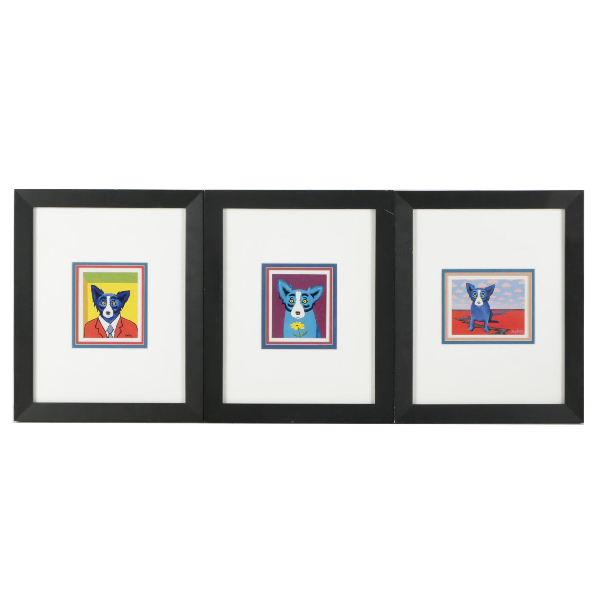 "Offset Lithographs After George Rodrigue's ""Blue Dogs"""