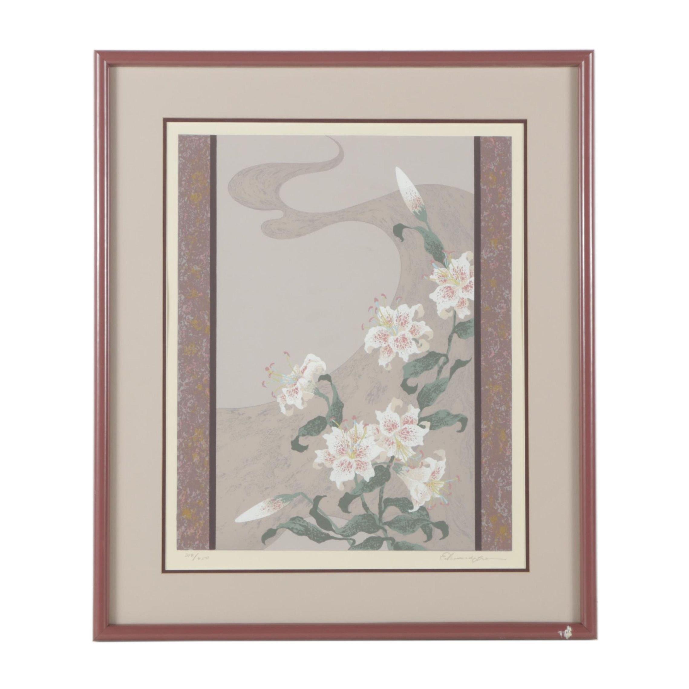 Limited Edition Serigraph of Flowers