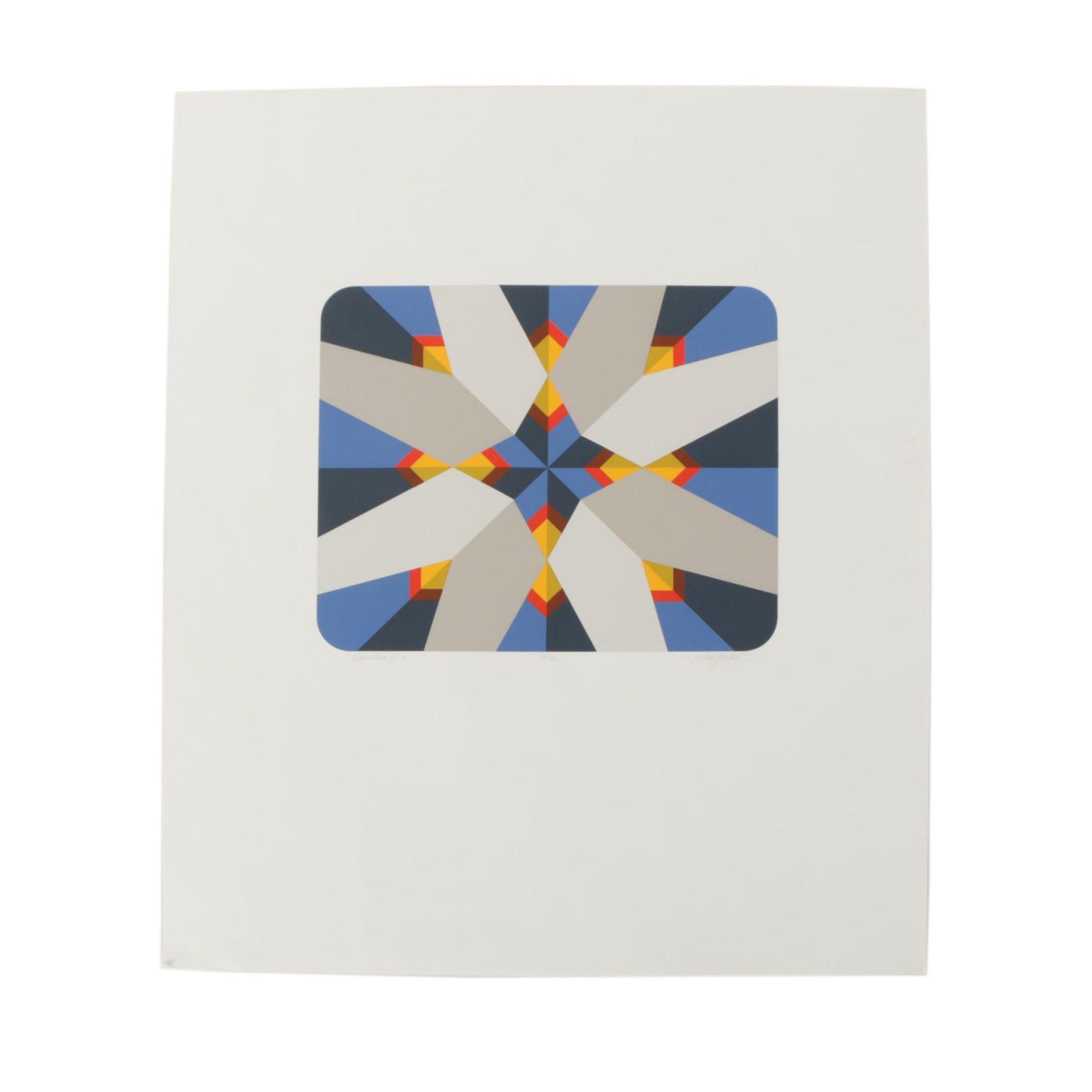 "Marko Spalatin Abstract Serigraph ""Nautica XII"""