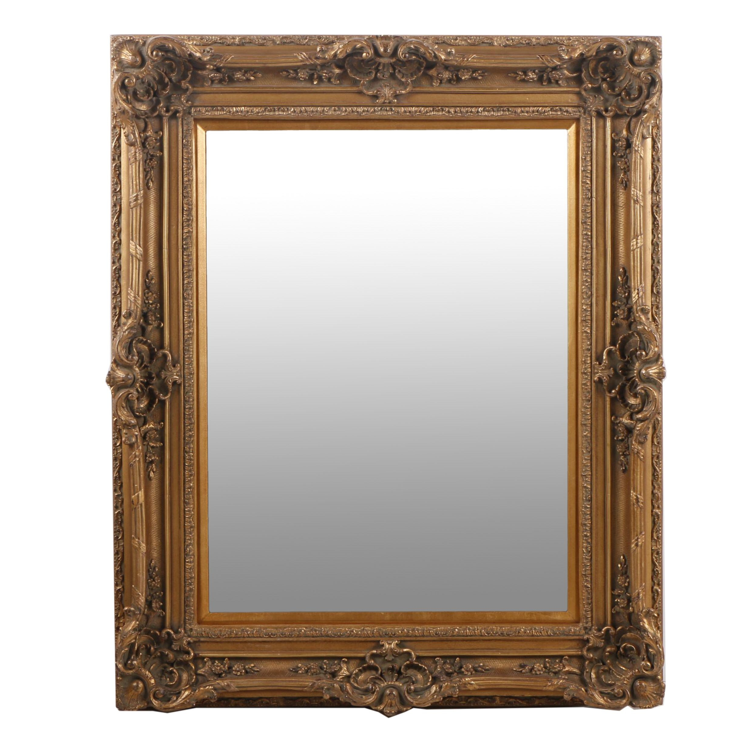 Renaissance Gallery Wall Mirror with Wood Frame