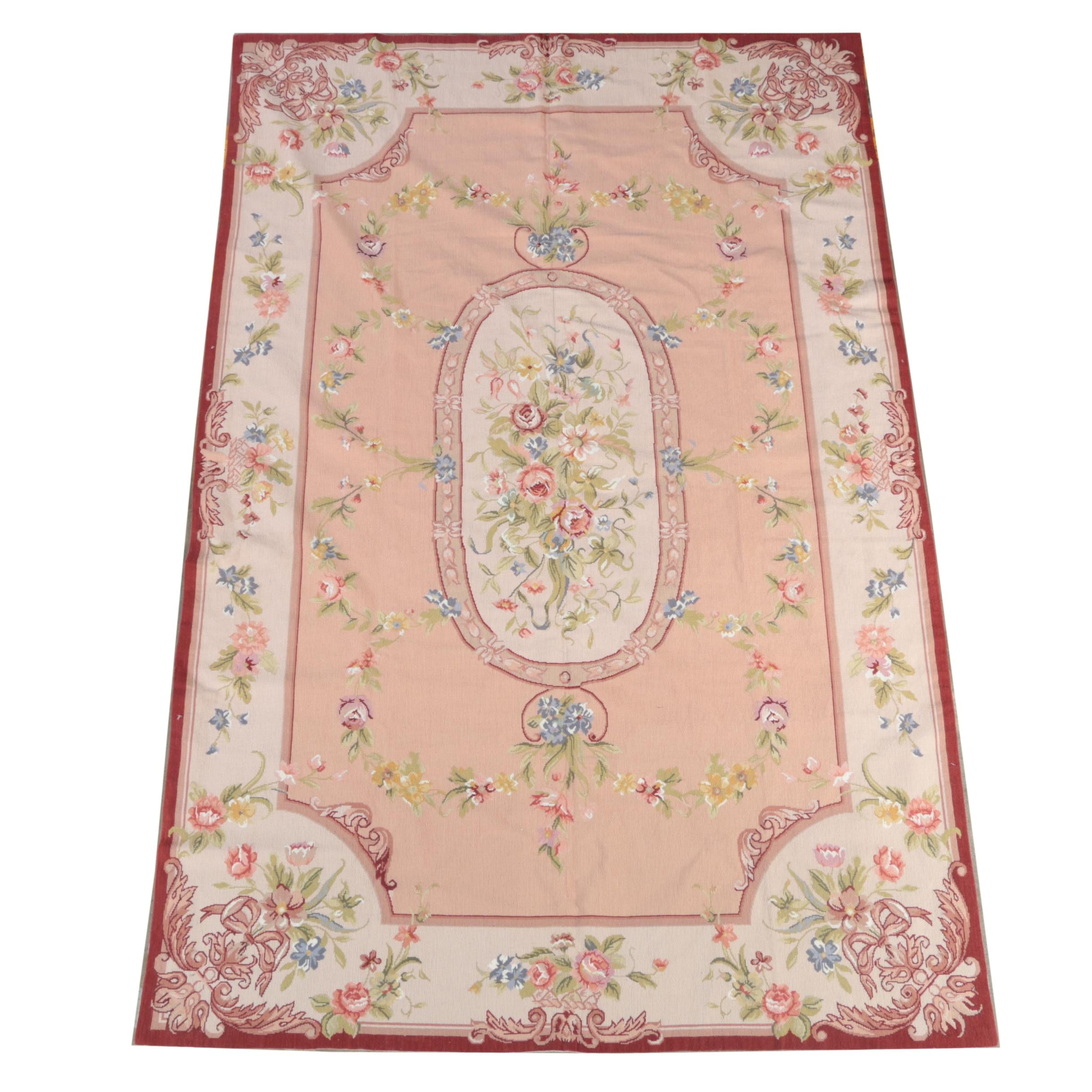 Handwoven Needlepoint Sino-Aubusson Area Rug