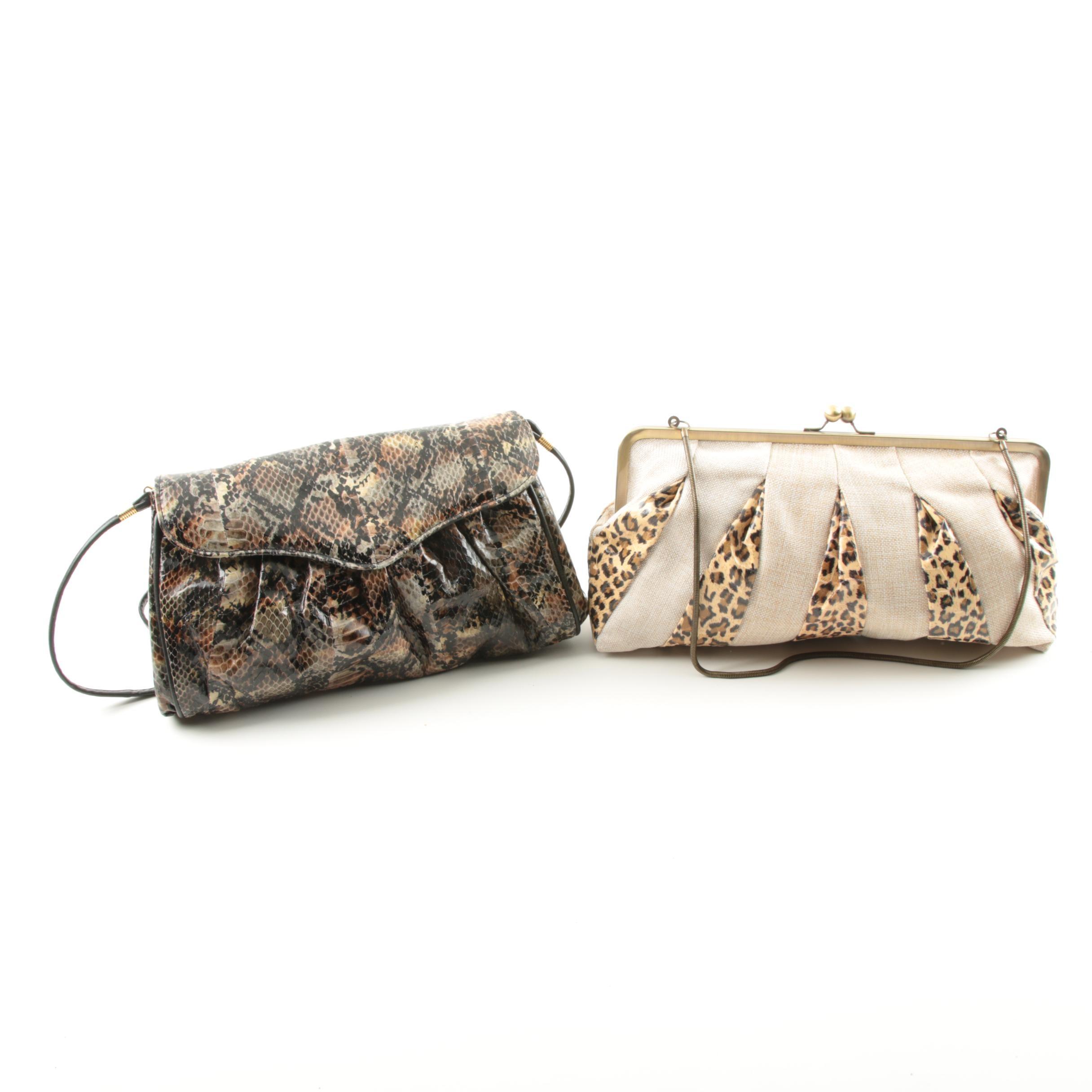 Leopard Print and J. Reneé Snakeskin Handbags