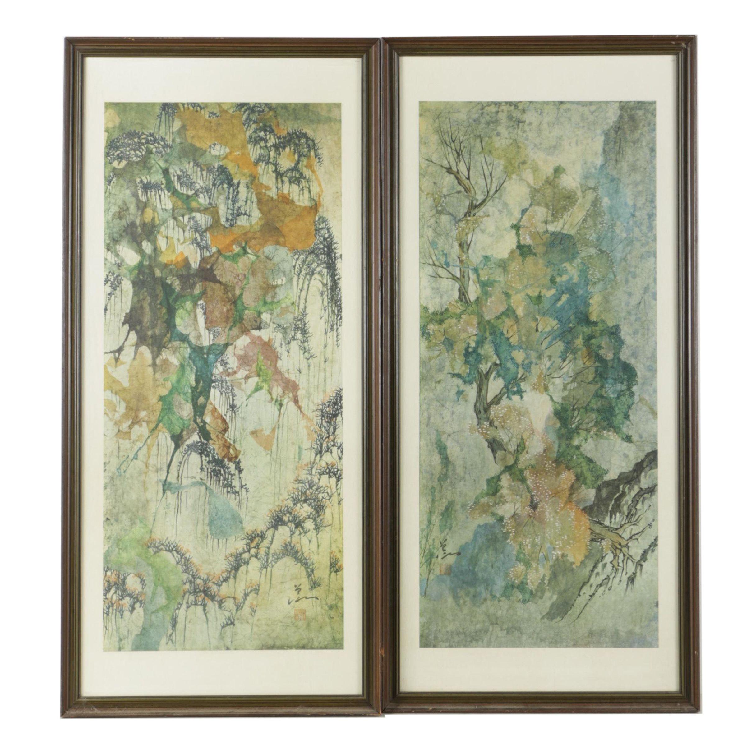 East Asian Style Giclée Prints of Landscapes