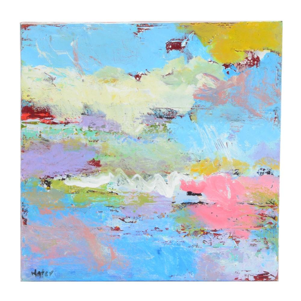 "Lee Hafer Original Acrylic Painting on Canvas ""Fiesta"""