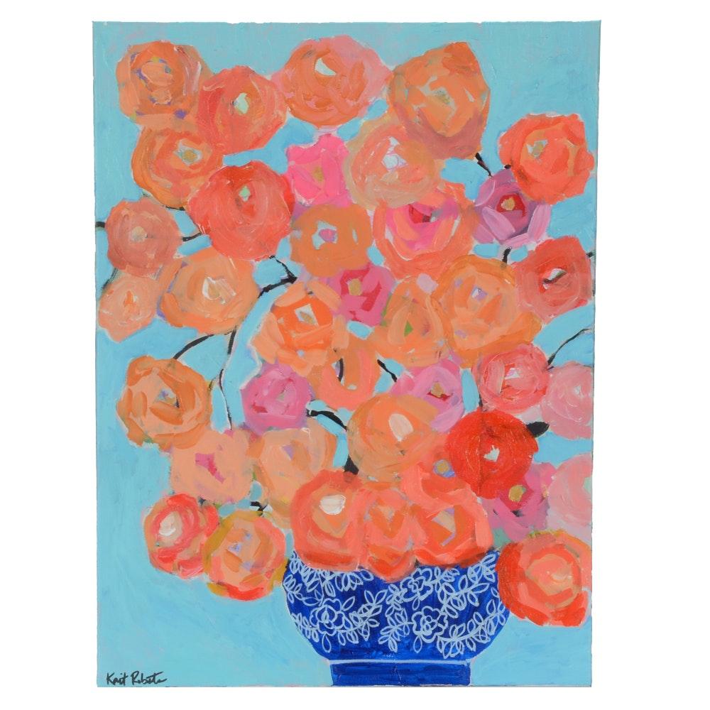 "Kaitlin Roberts Original Acrylic Painting ""Ginger Jar Series No. 2"""