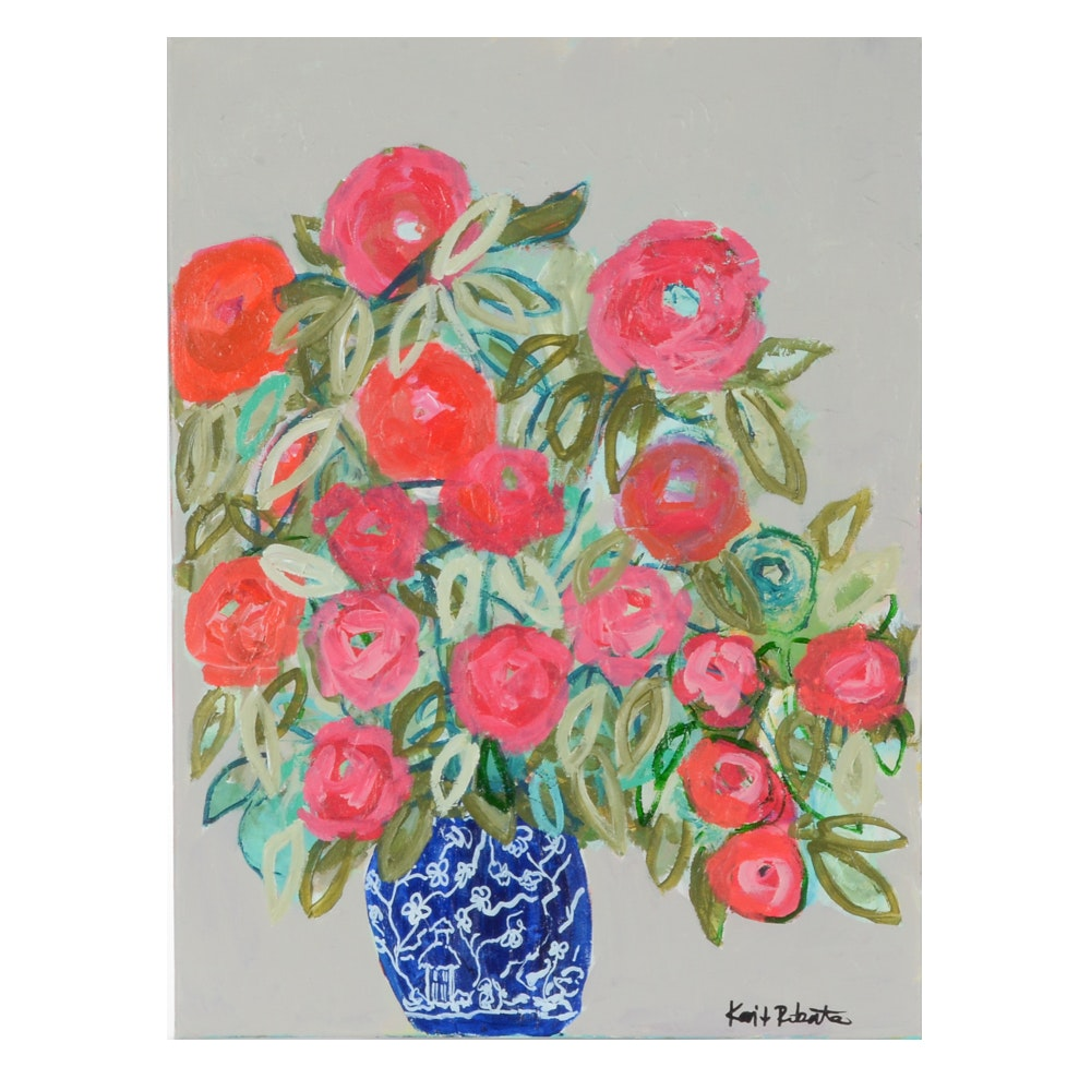 "Kaitlin Roberts Original Acrylic Painting ""Ginger Jar Series No. 4"""