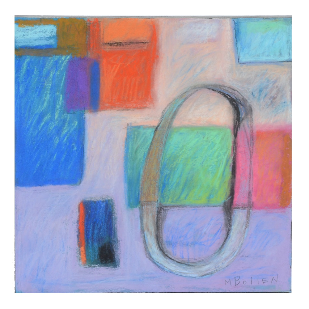 Melissa Bollen Abstract Pastel Painting on Board