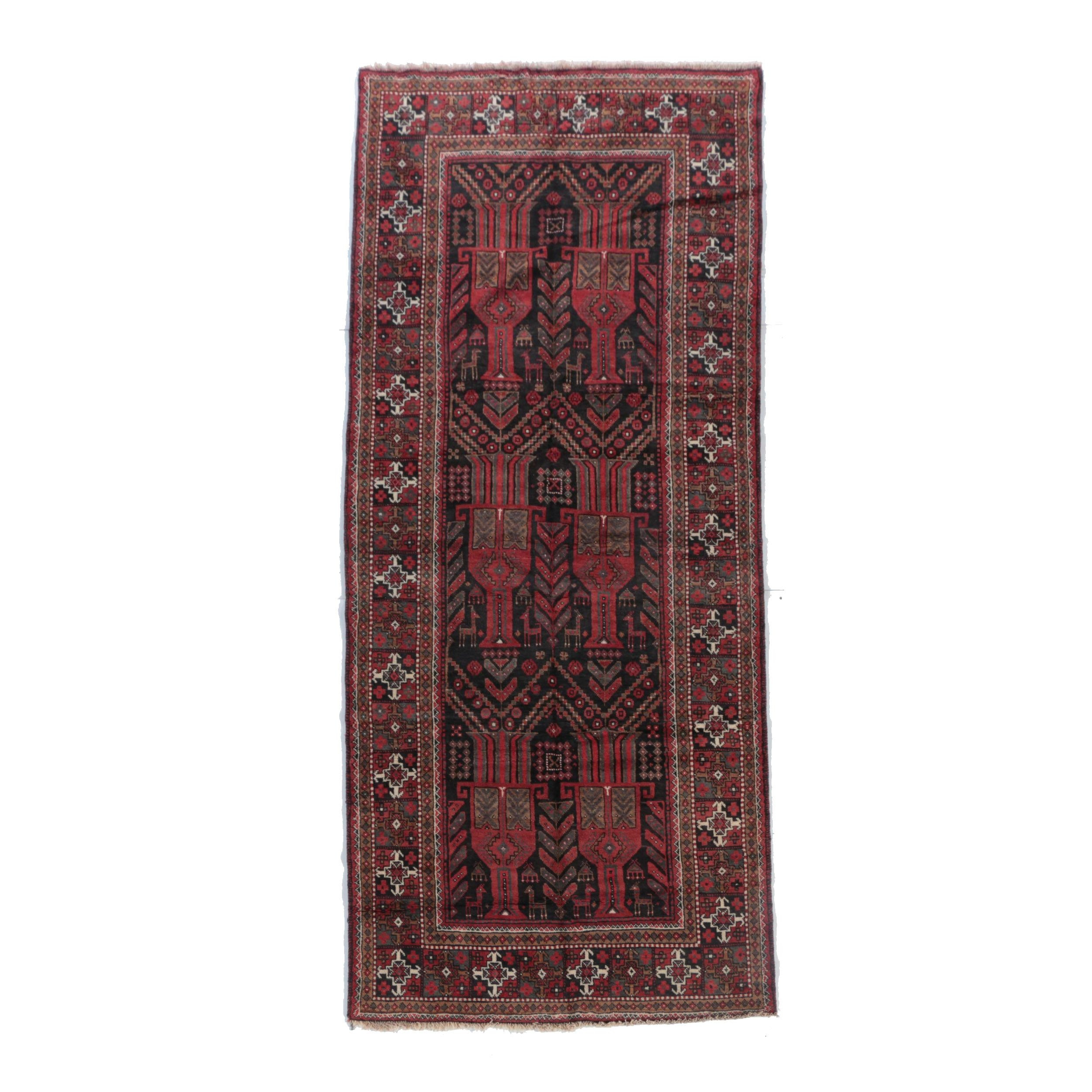 Hand-Knotted Persian Nahavand Wool Area Rug