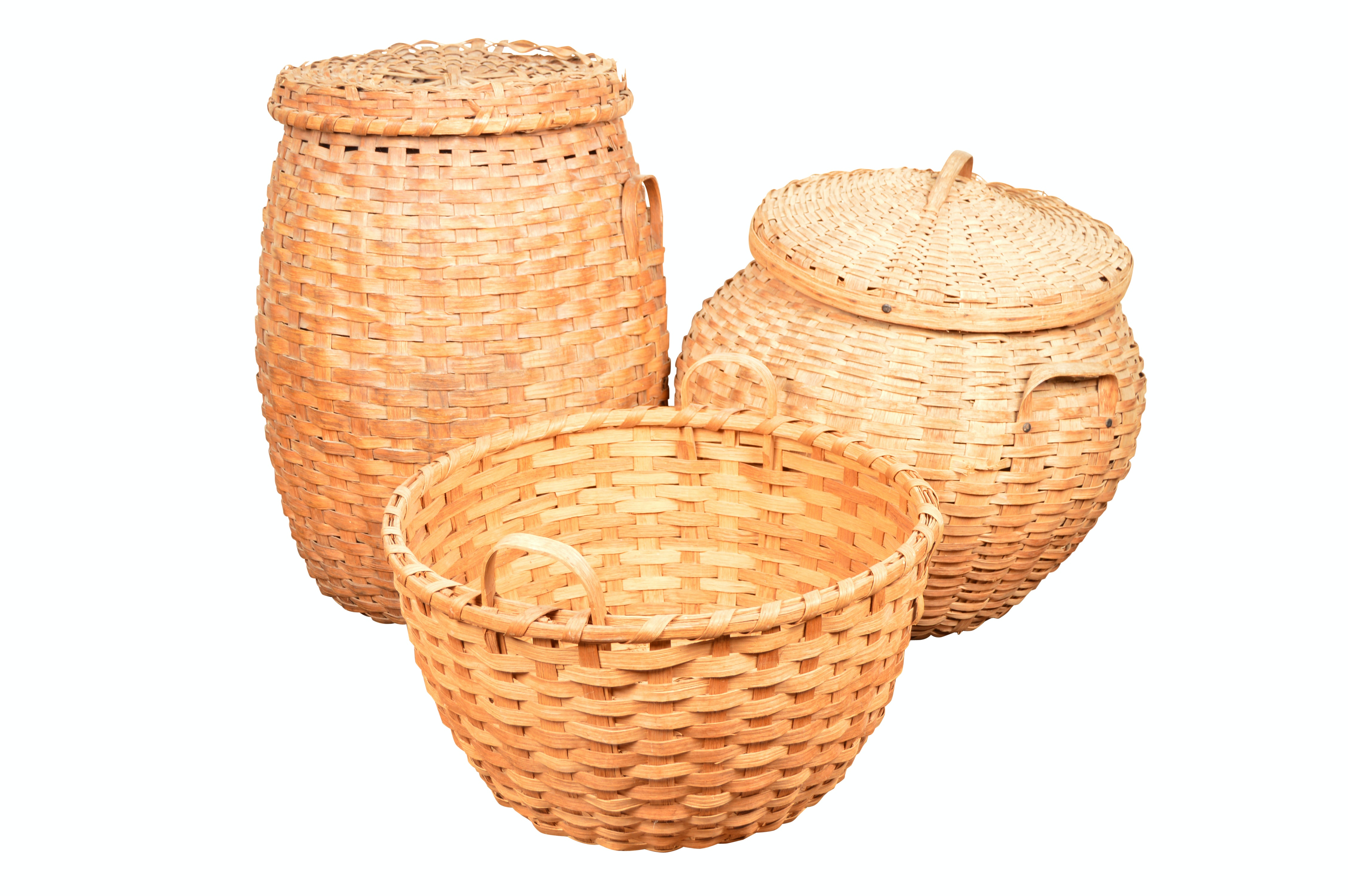 Woven Baskets with Side Handles