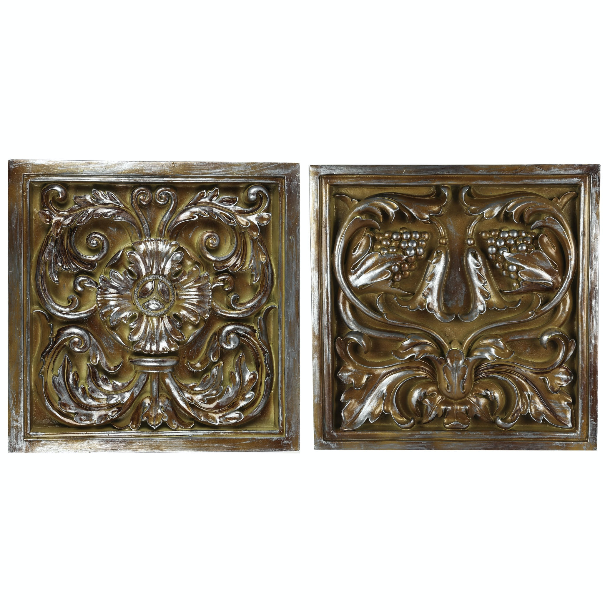 Contemporary Floral Wall Medallions