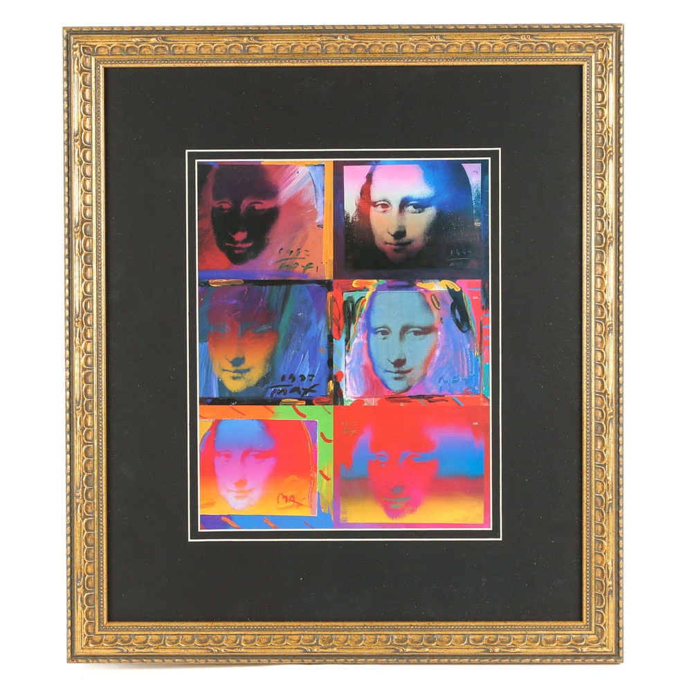 """Offset Lithograph on Paper After Peter Max """"Mona Lisa"""""""