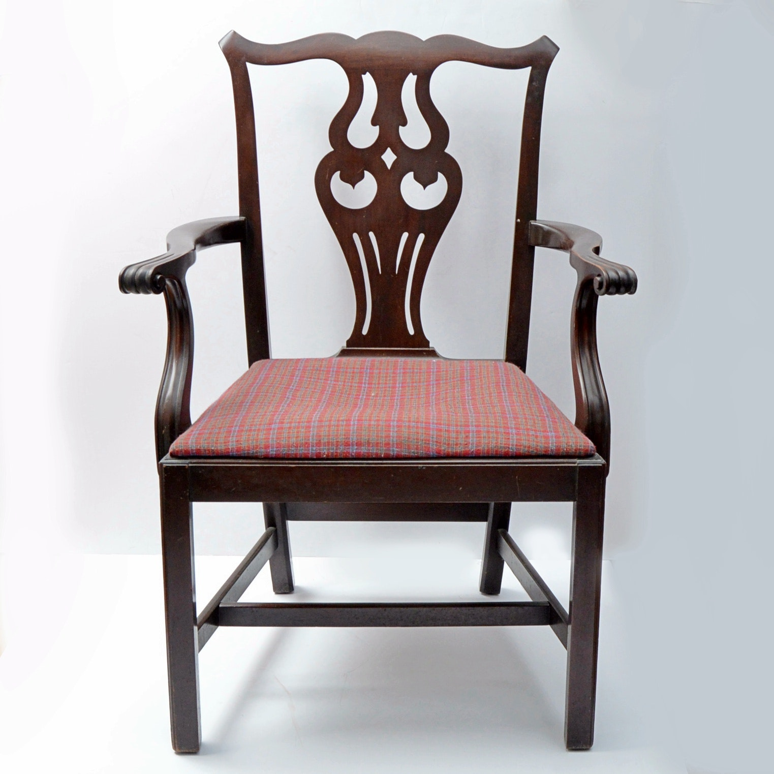 Mahogany Chippendale Style Armchair