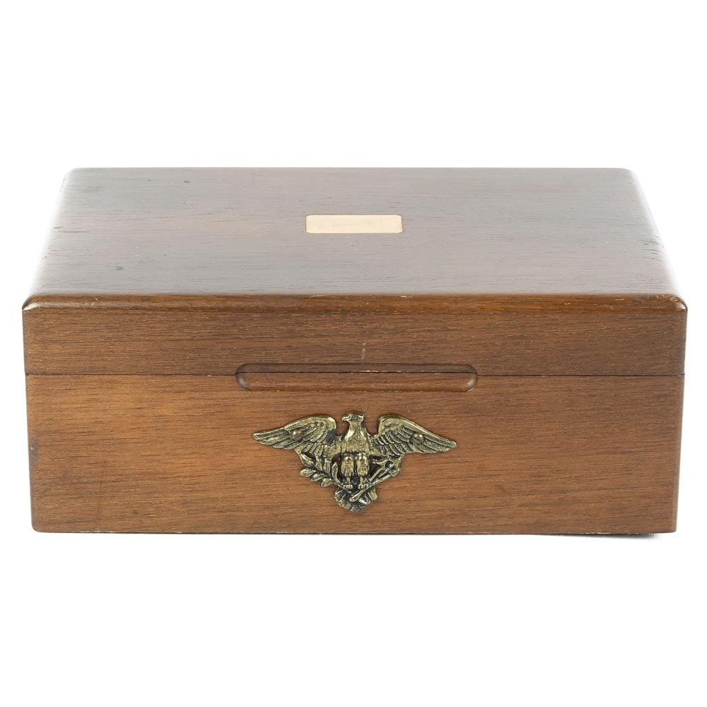 Vintage Decatur Walnut Trinket Box