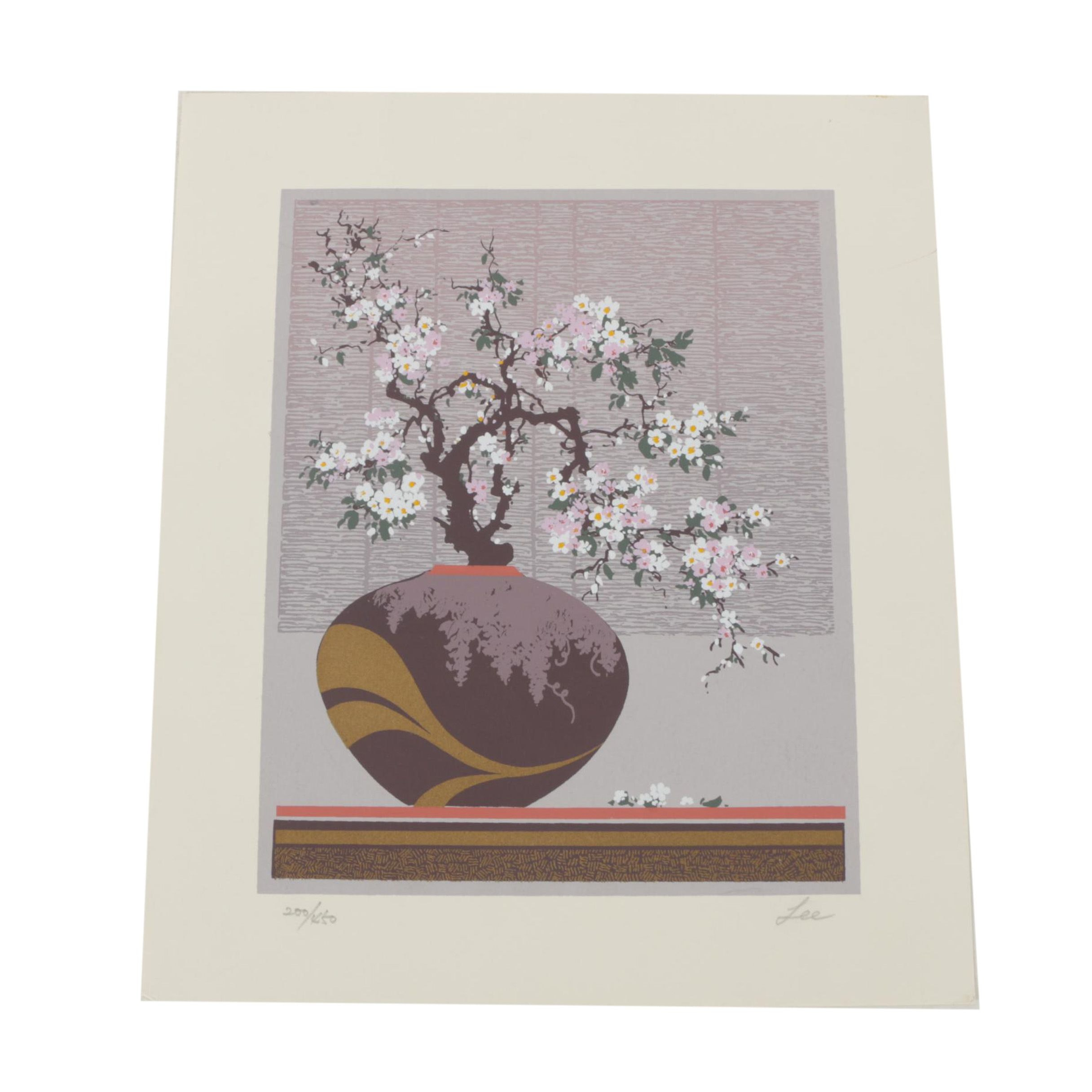 Lee Limited Edition Serigraph on Paper of a Still Life