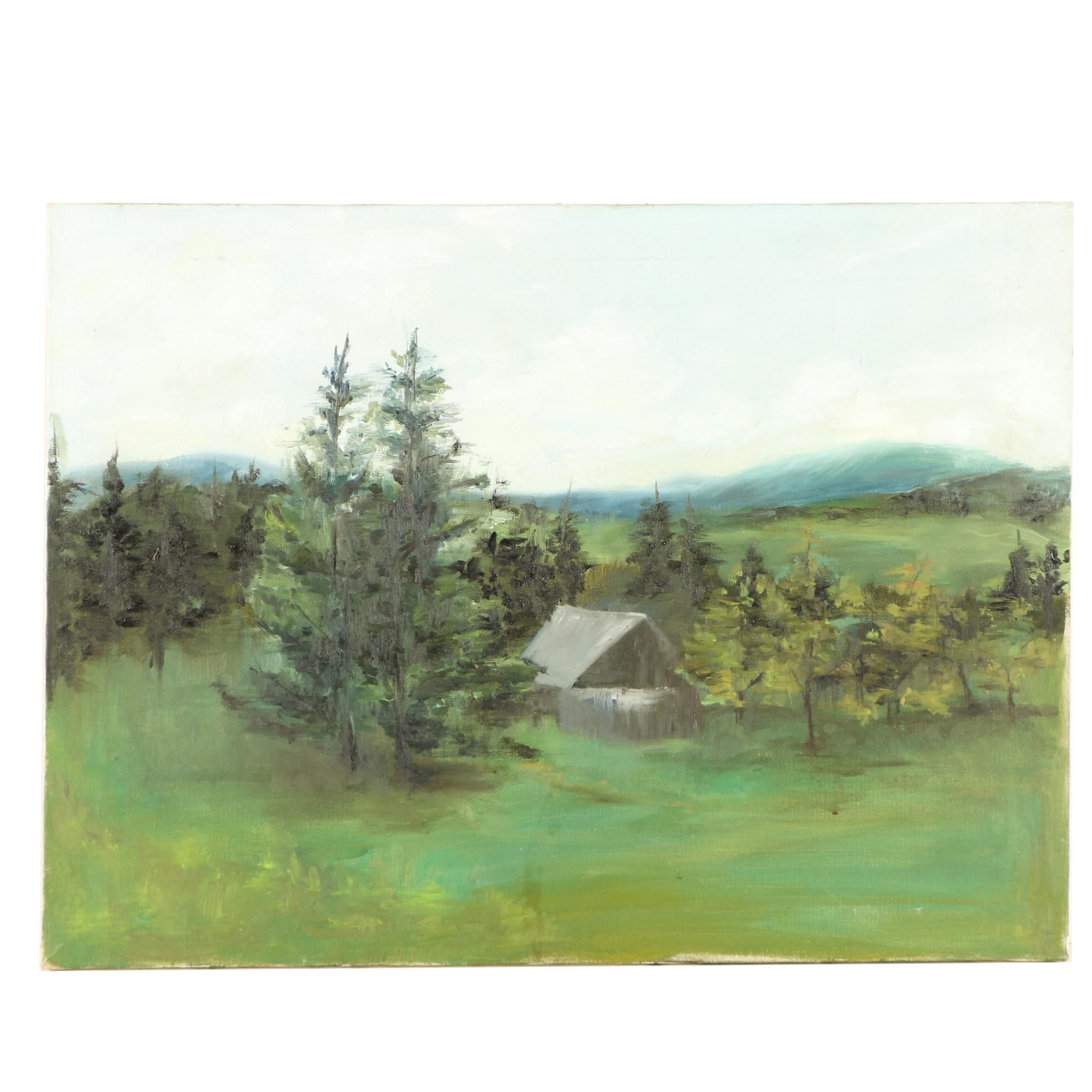 Oil Painting of Cabin
