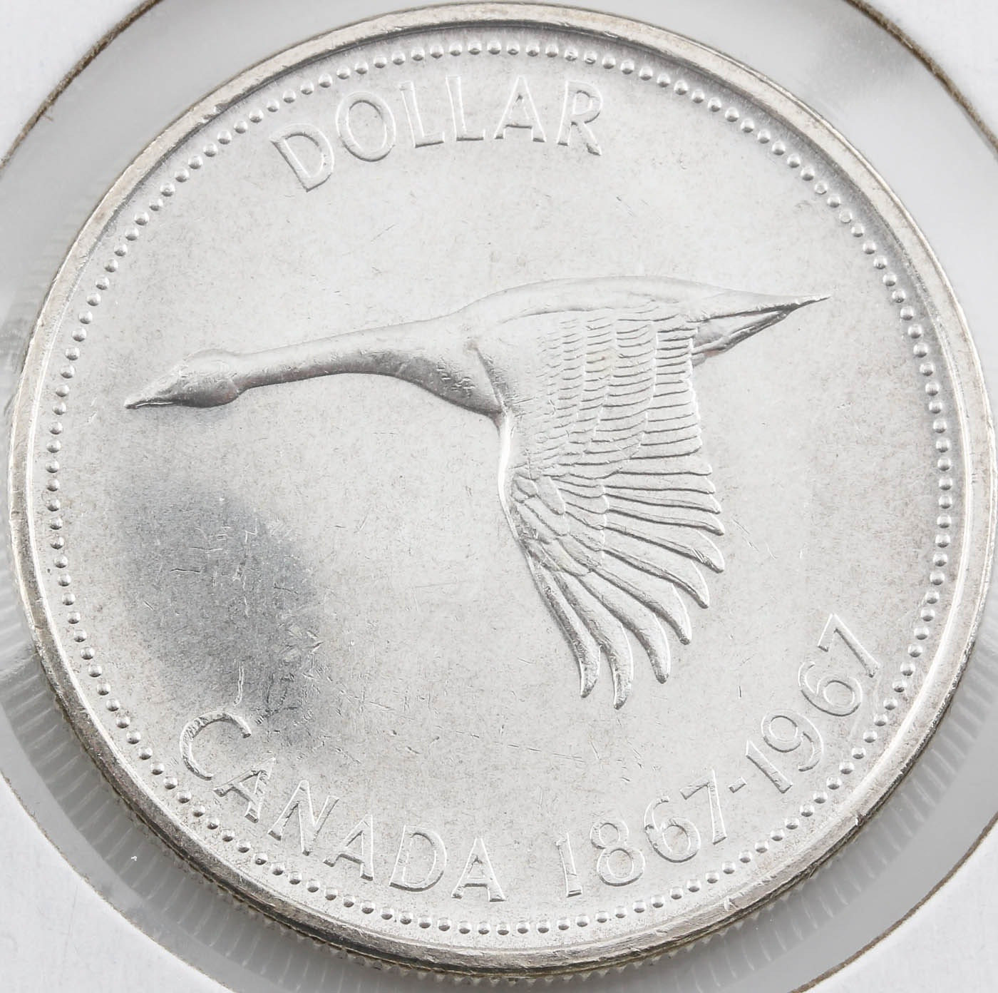 1967 Canadian Silver Dollar 100 Year Commemorative