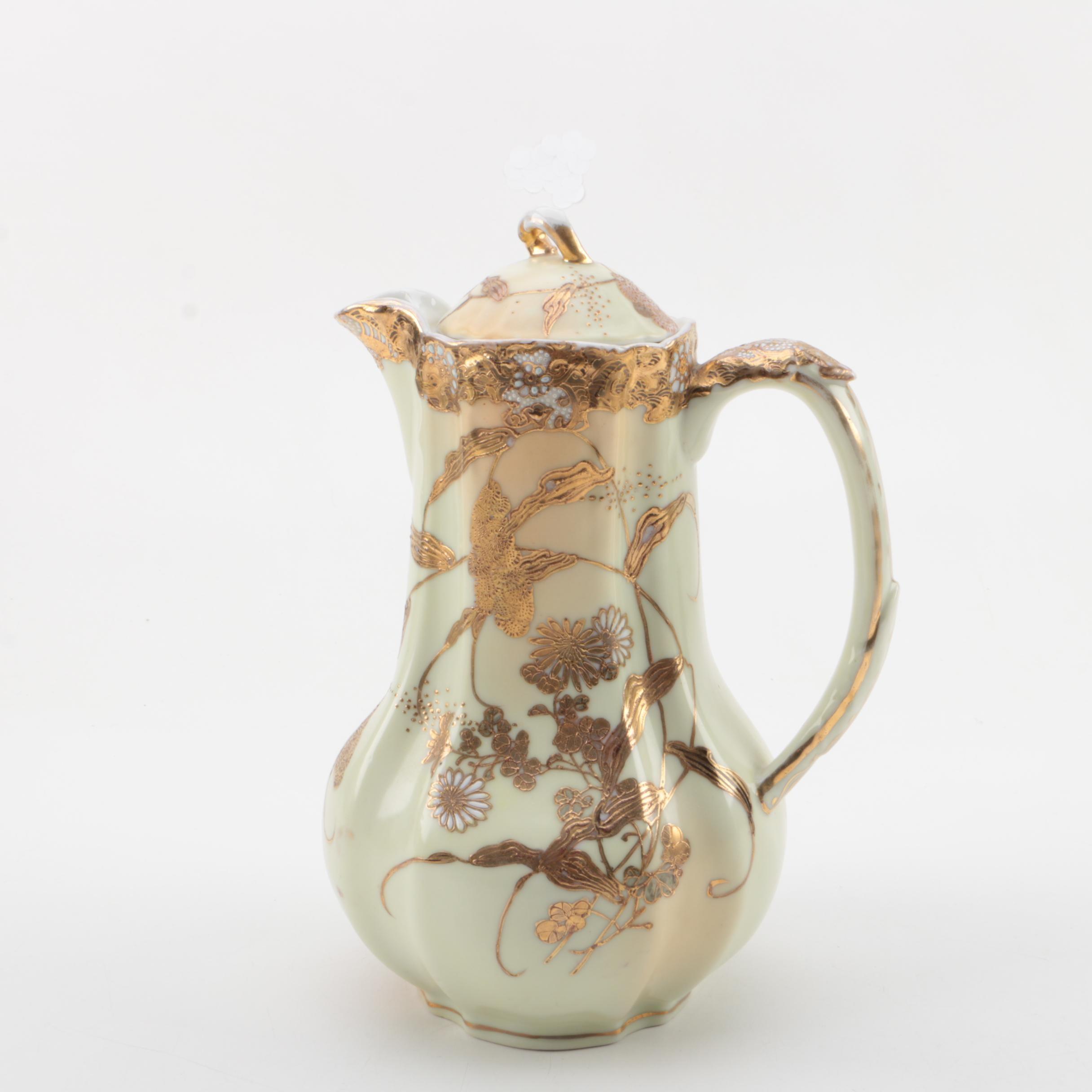 Vintage Japanese Gilt Porcelain Teapot