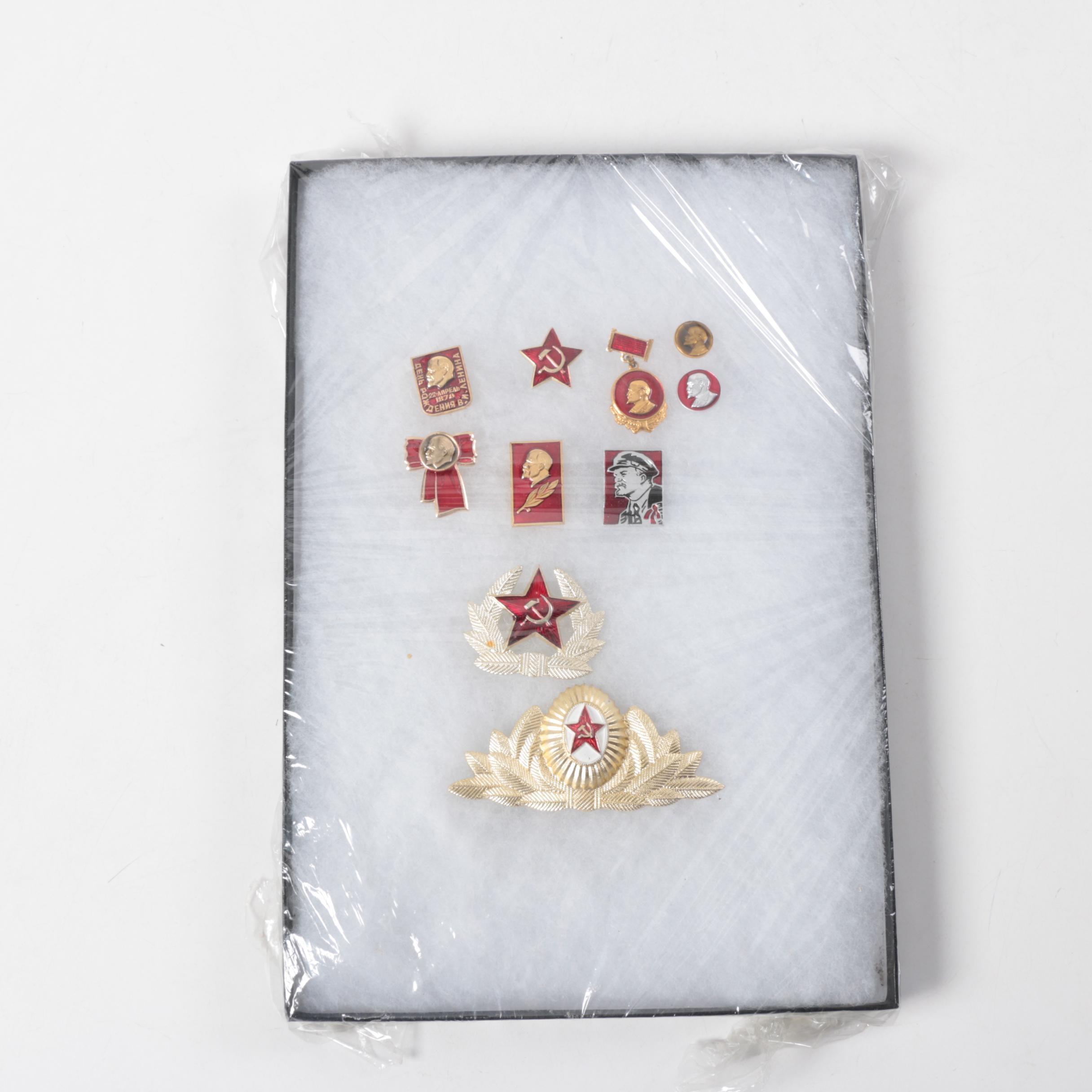 Soviet Pinbacks, Medals and Emblems